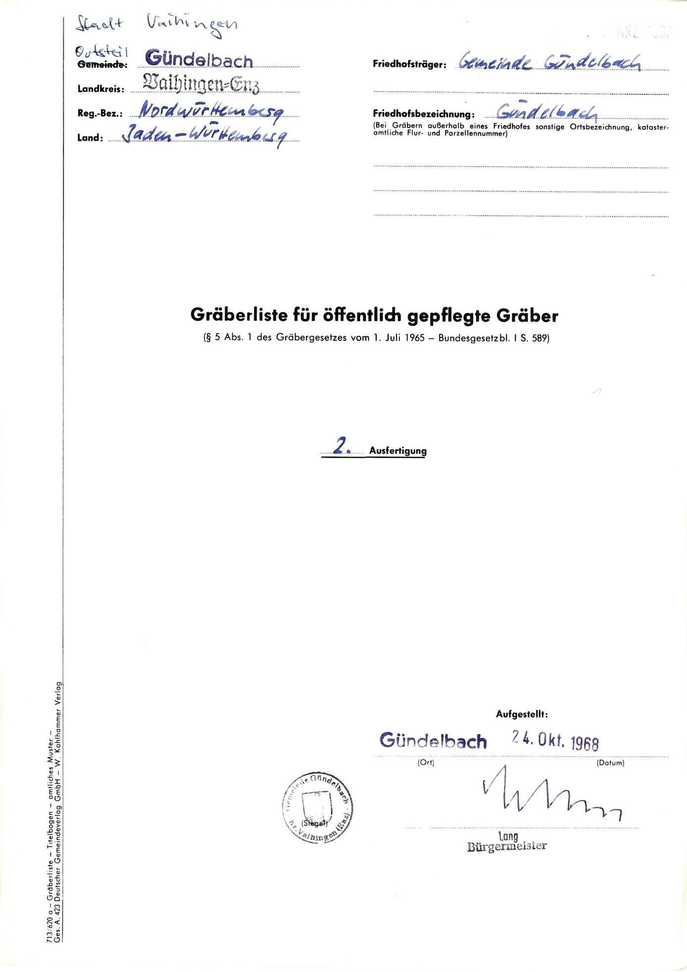 Gündelbach, Bild 1