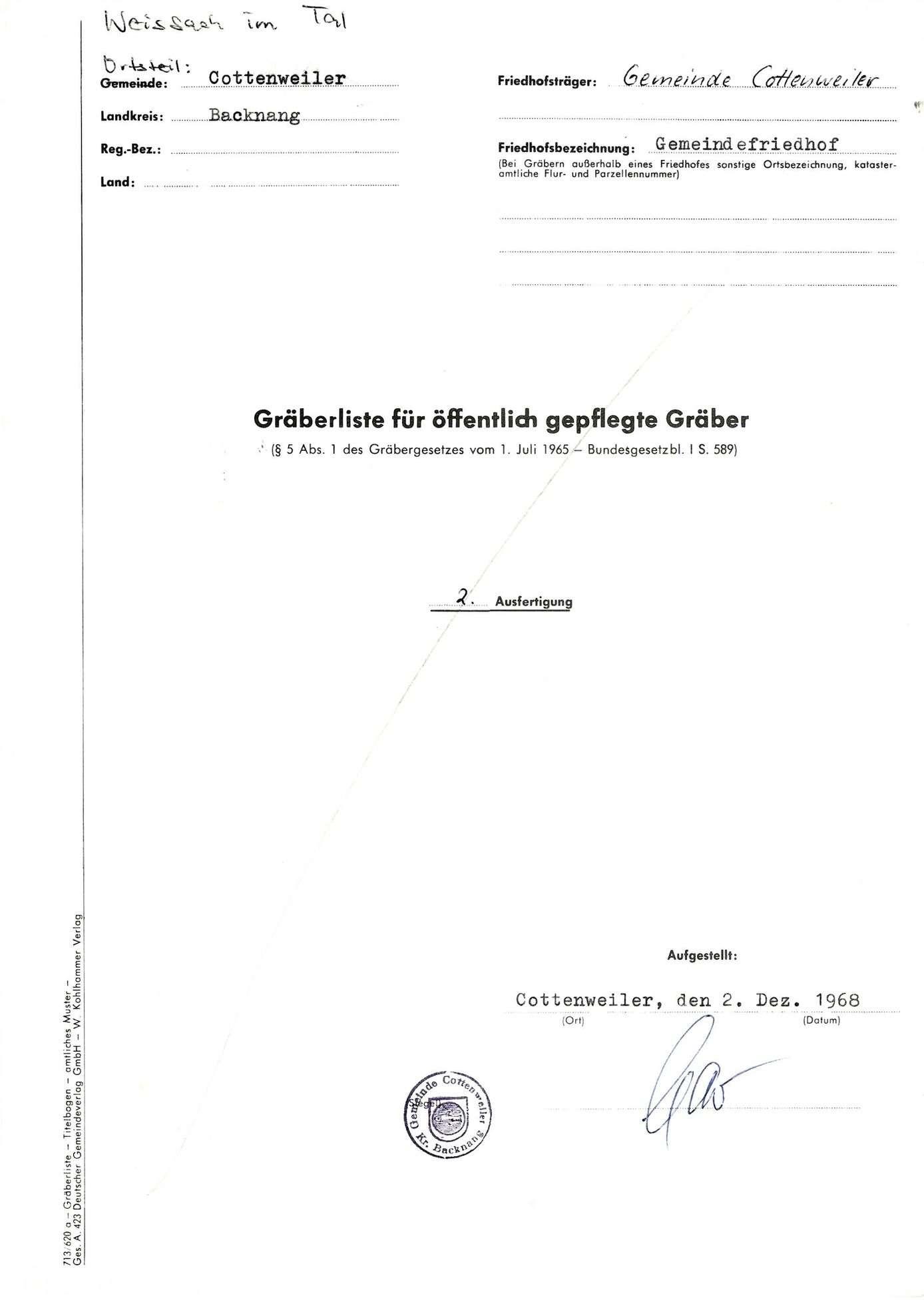 Cottenweiler, Bild 1