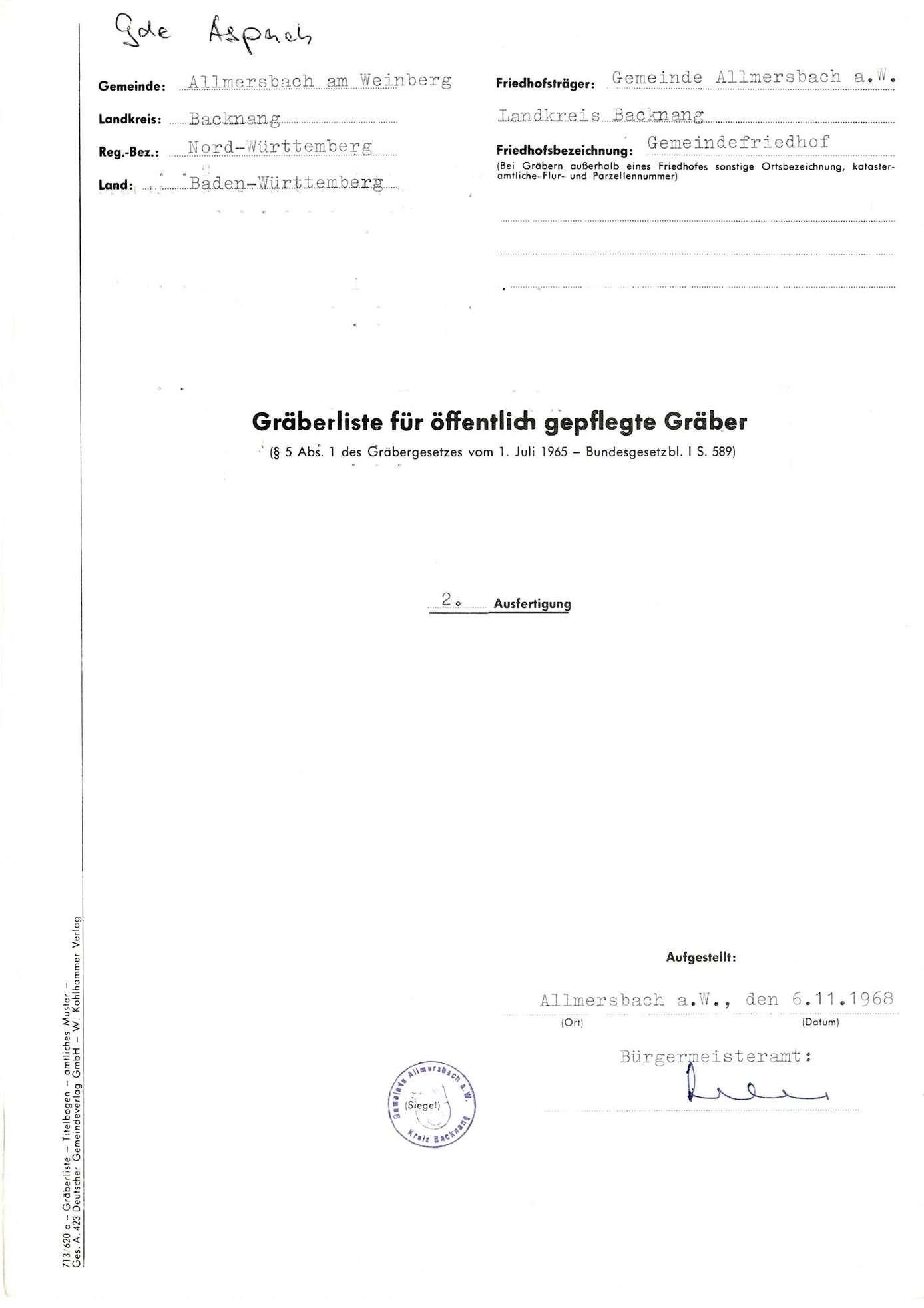 Allmersbach, Bild 1