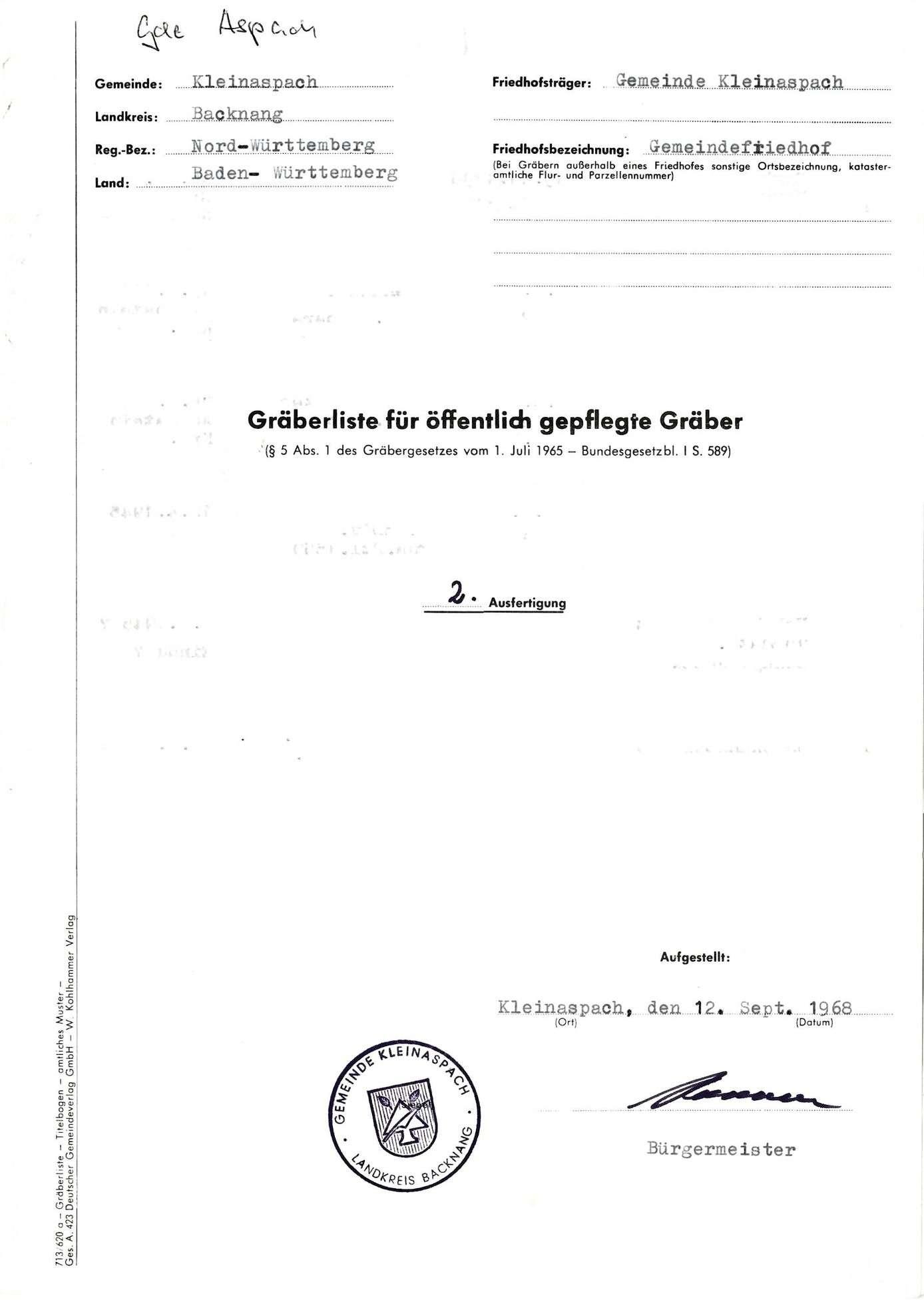 Kleinaspach, Bild 1