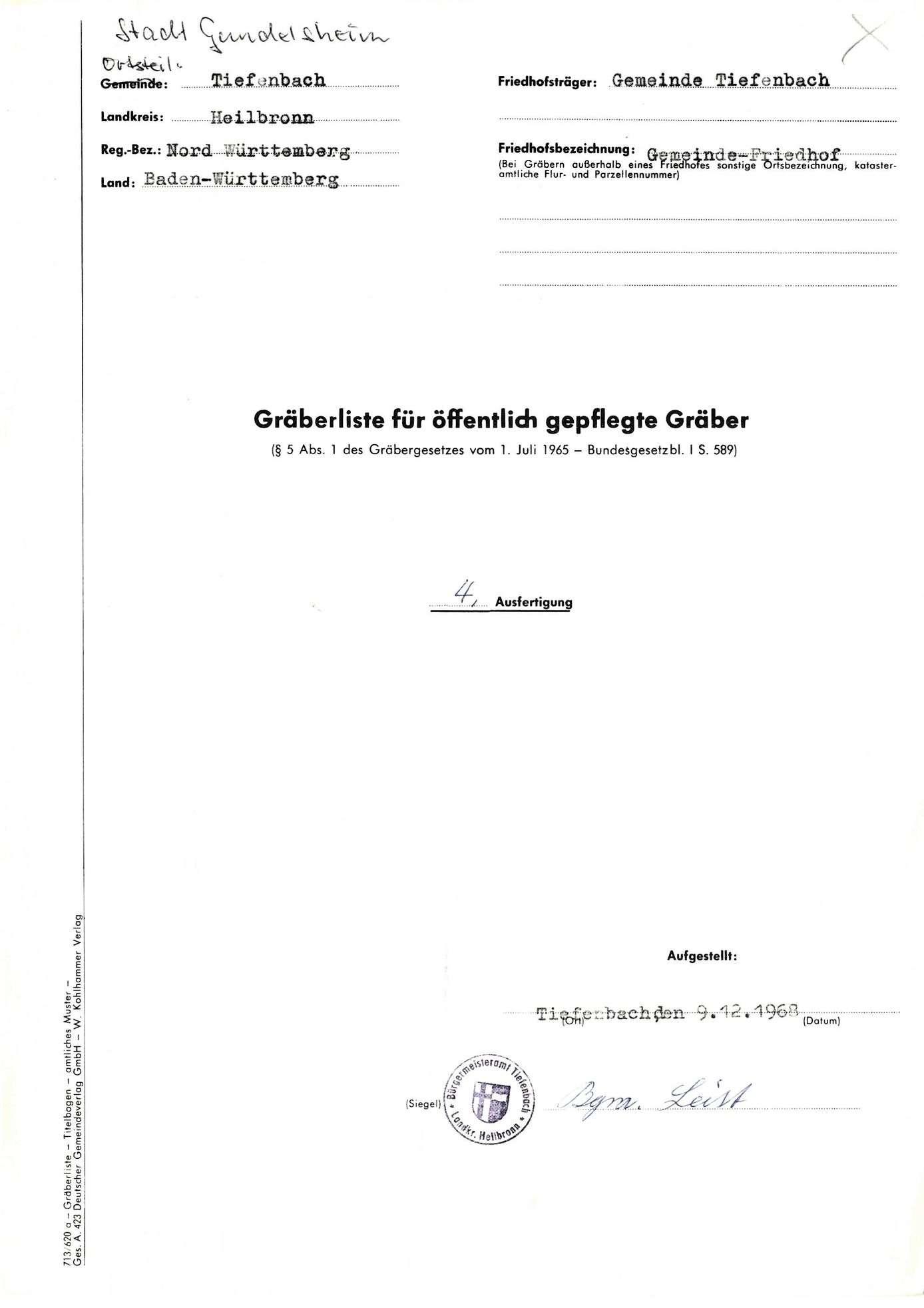 Tiefenbach, Bild 1