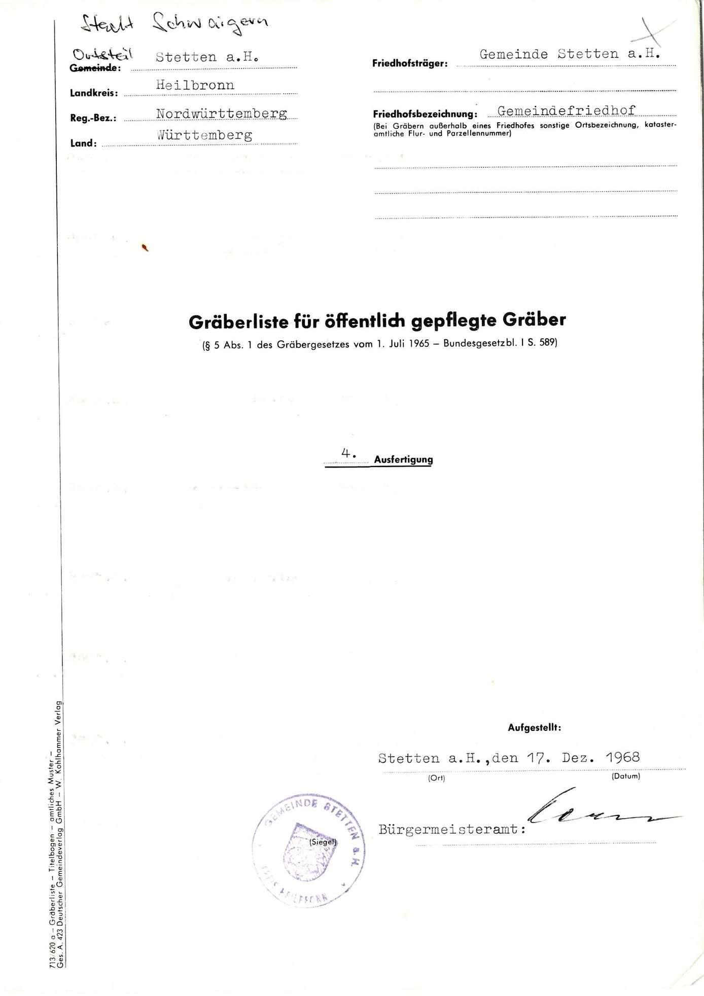 Stetten am Heuchelberg, Bild 1