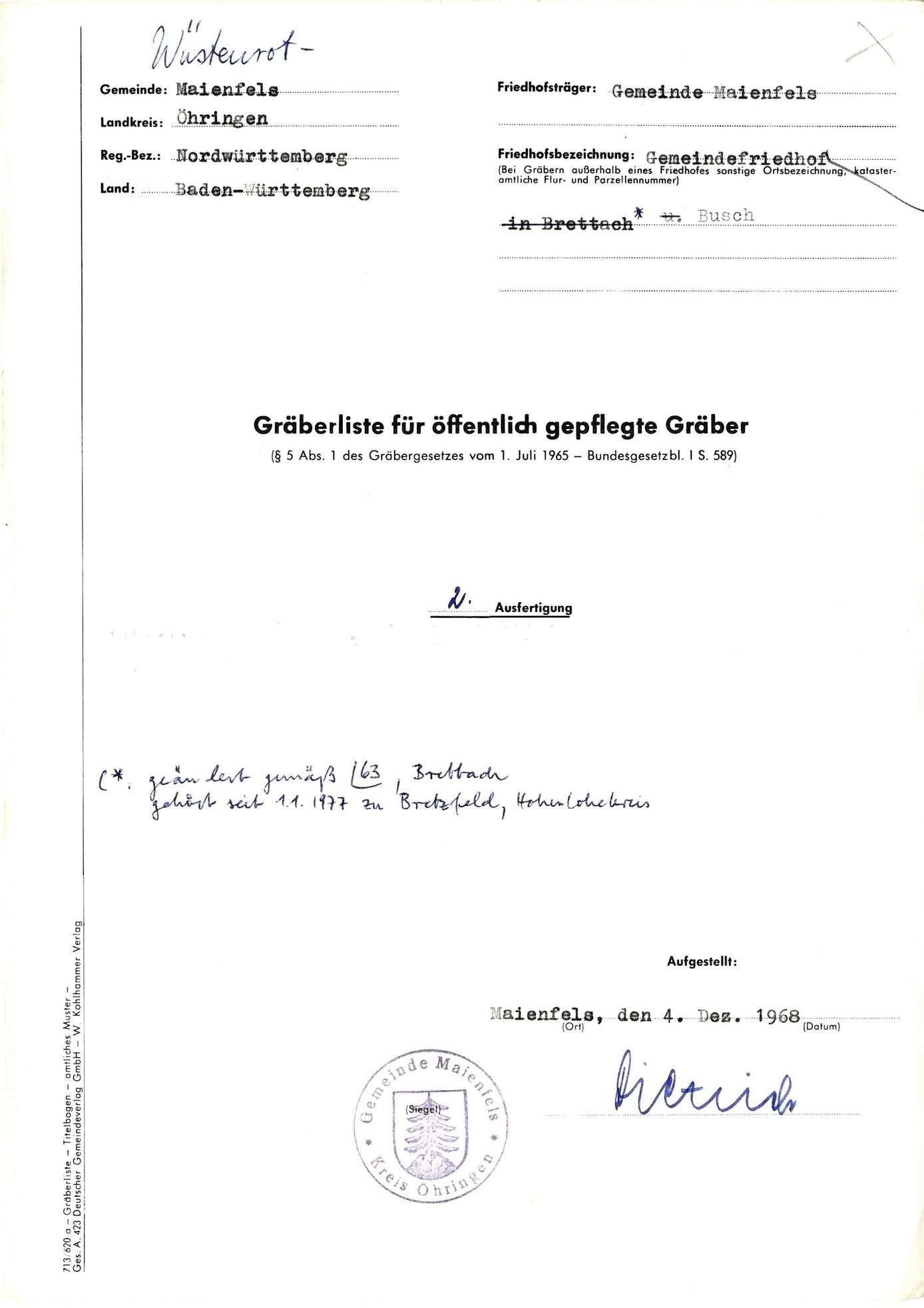 Maienfels, Bild 1