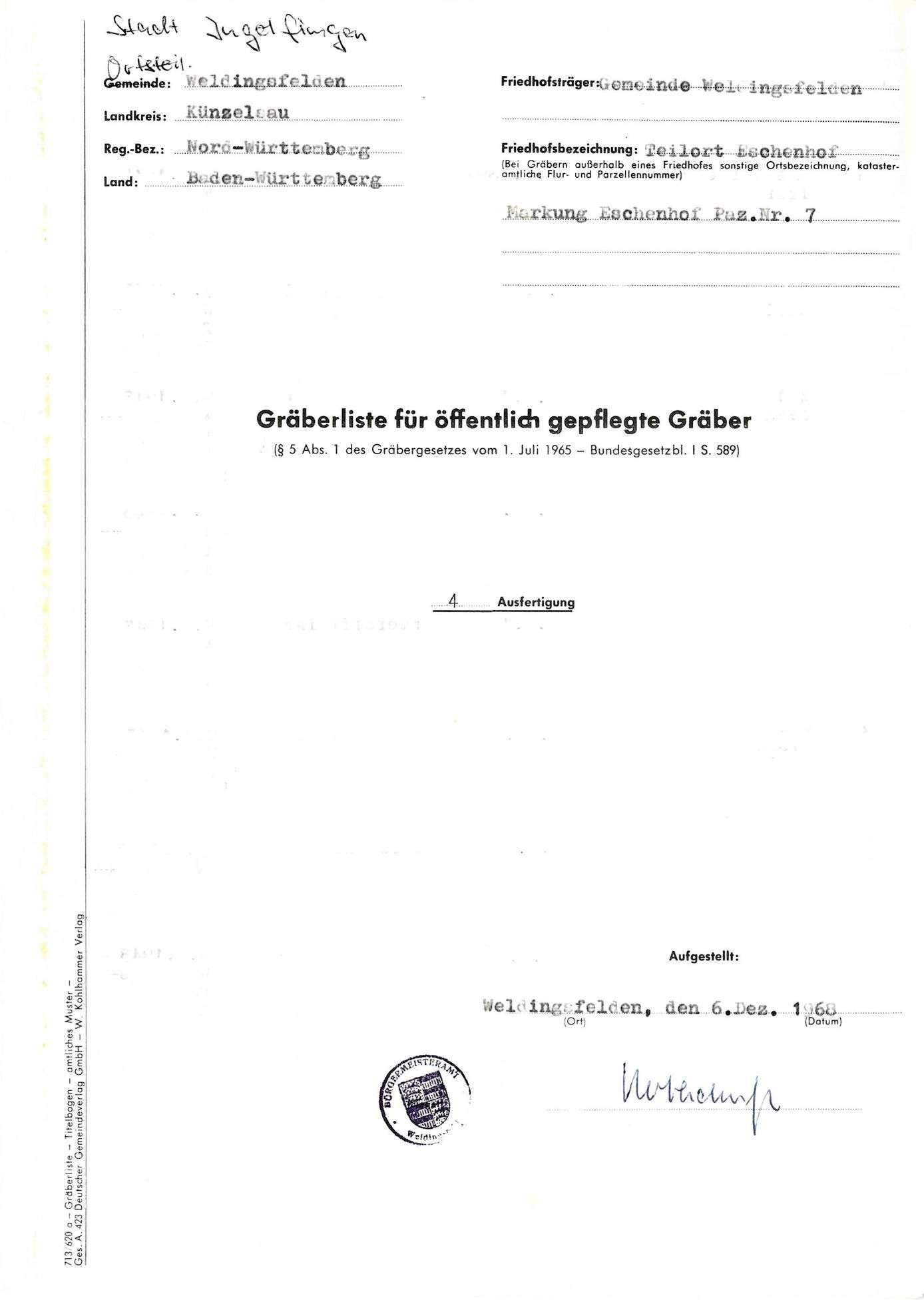 Weldingsfelden, Teilort Eschenhof, Bild 1