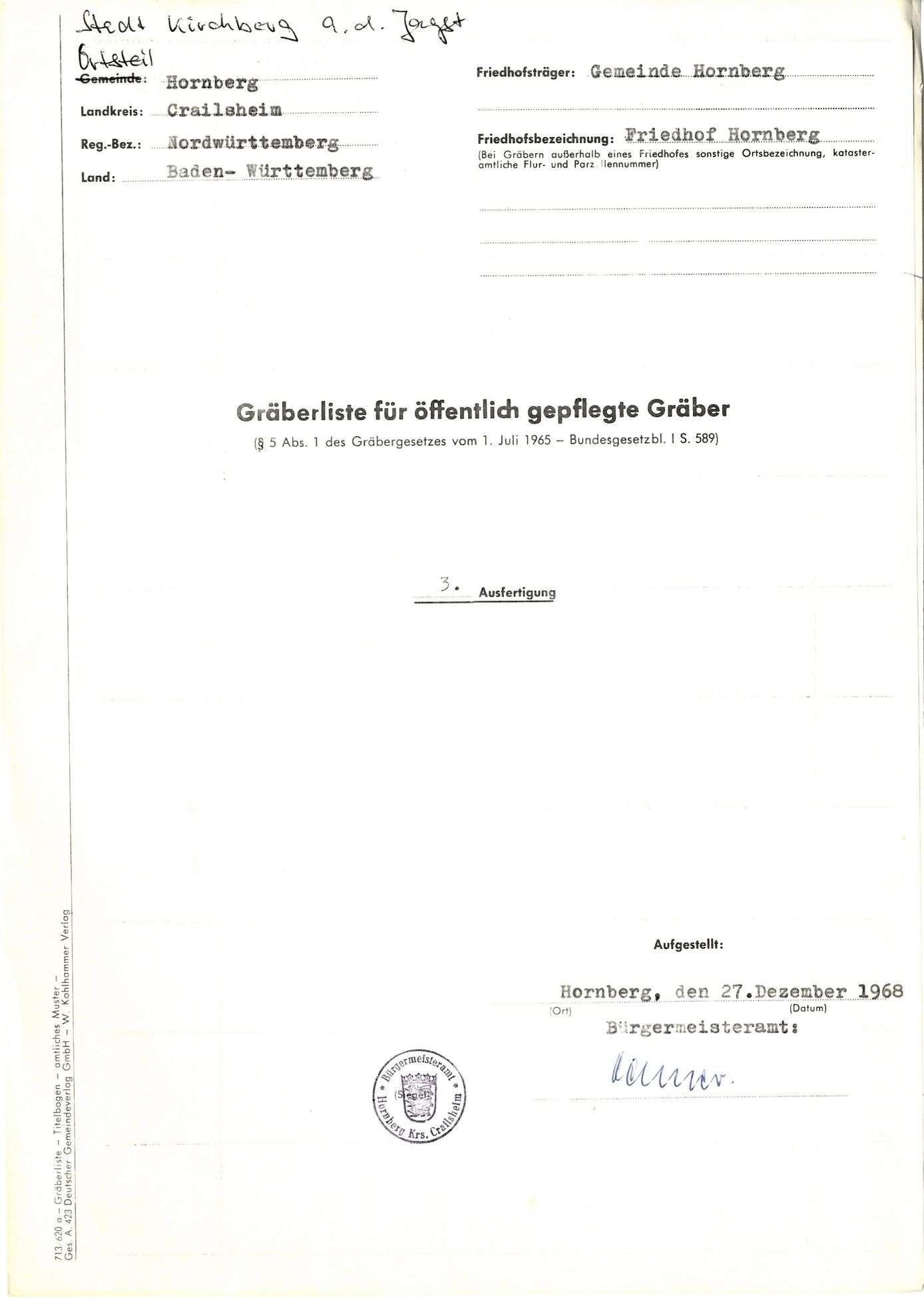Hornberg, Bild 1