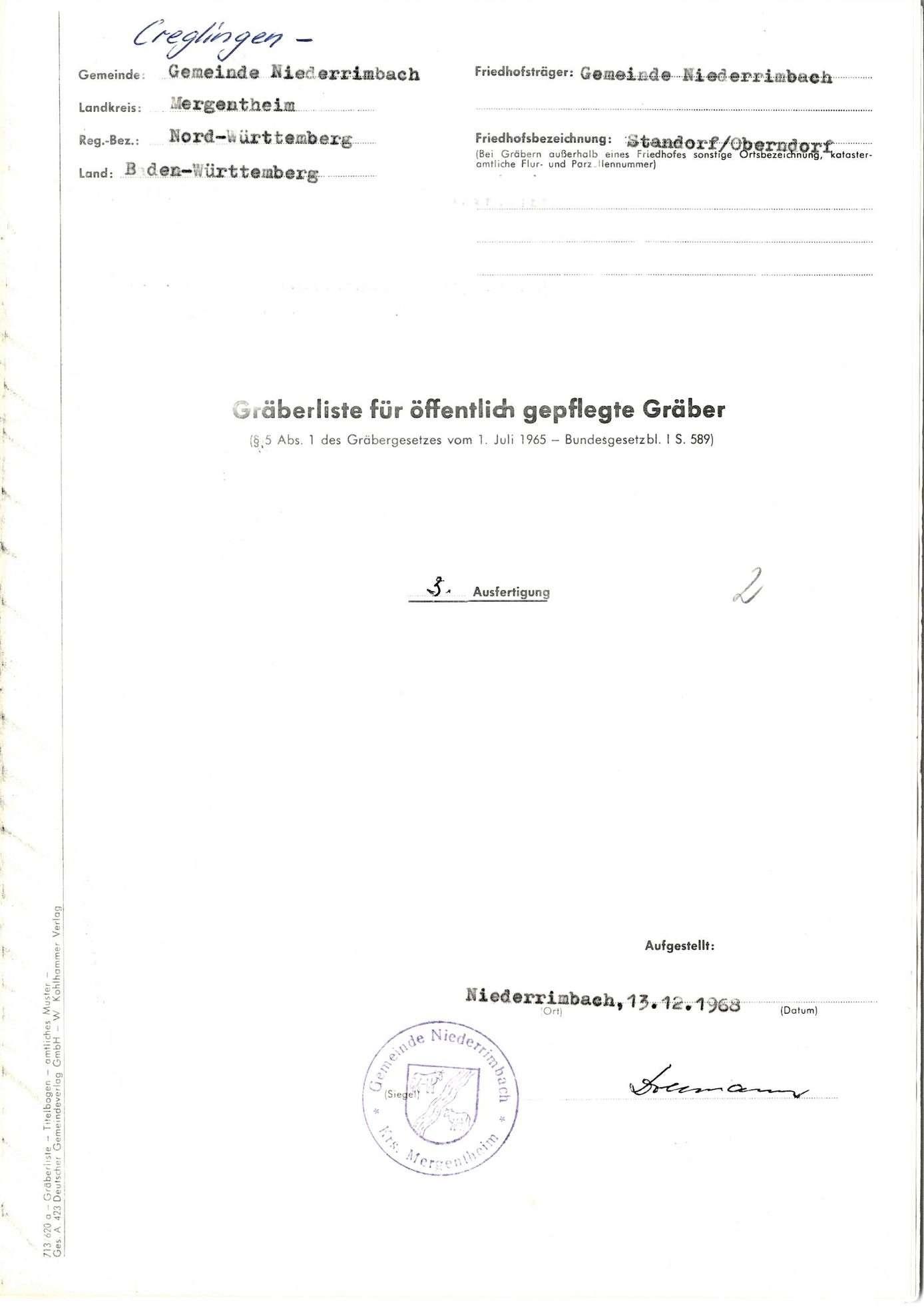 Niederrimbach-Standorf/ Oberndorf, Bild 1