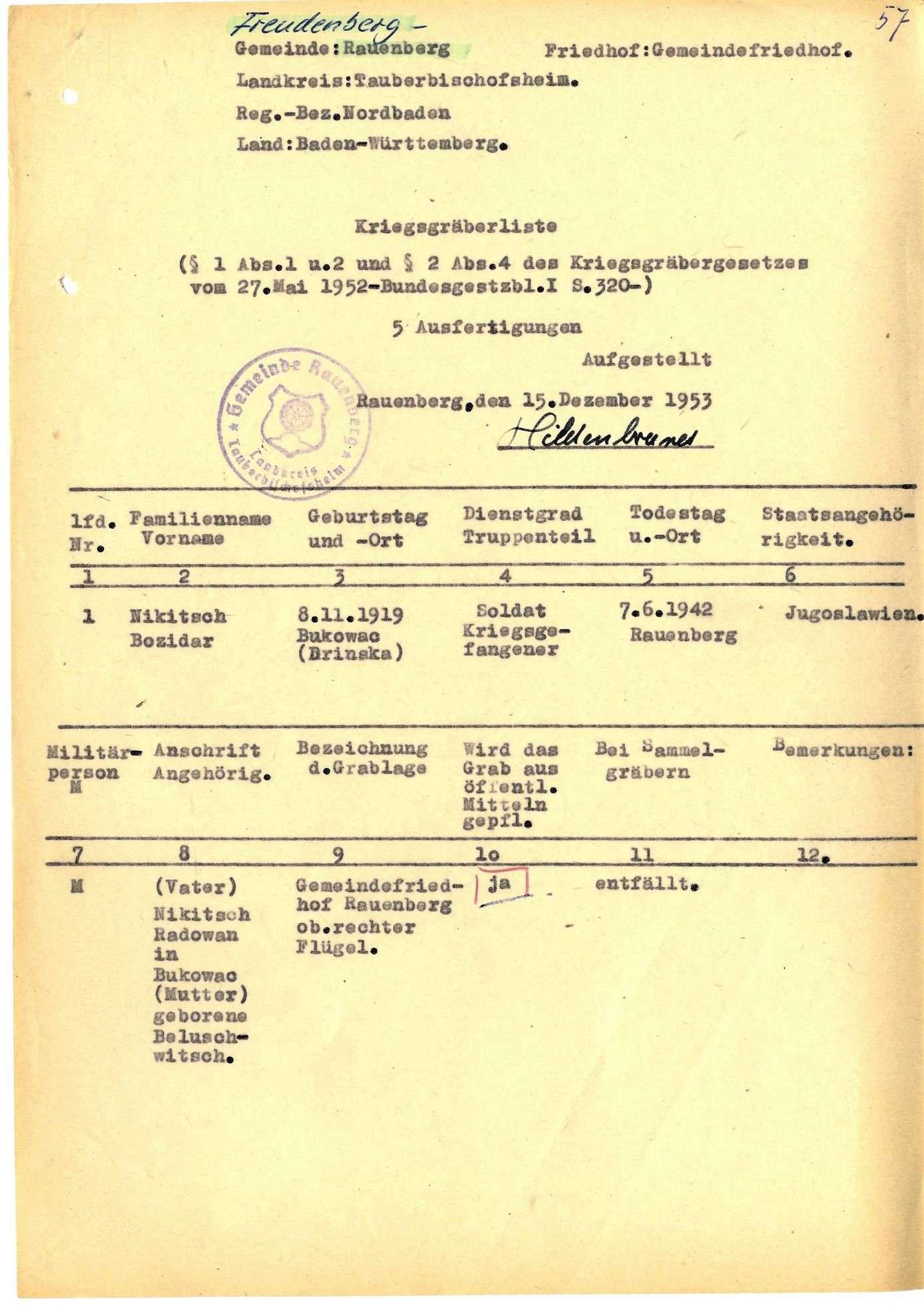 Rauenberg, Bild 1