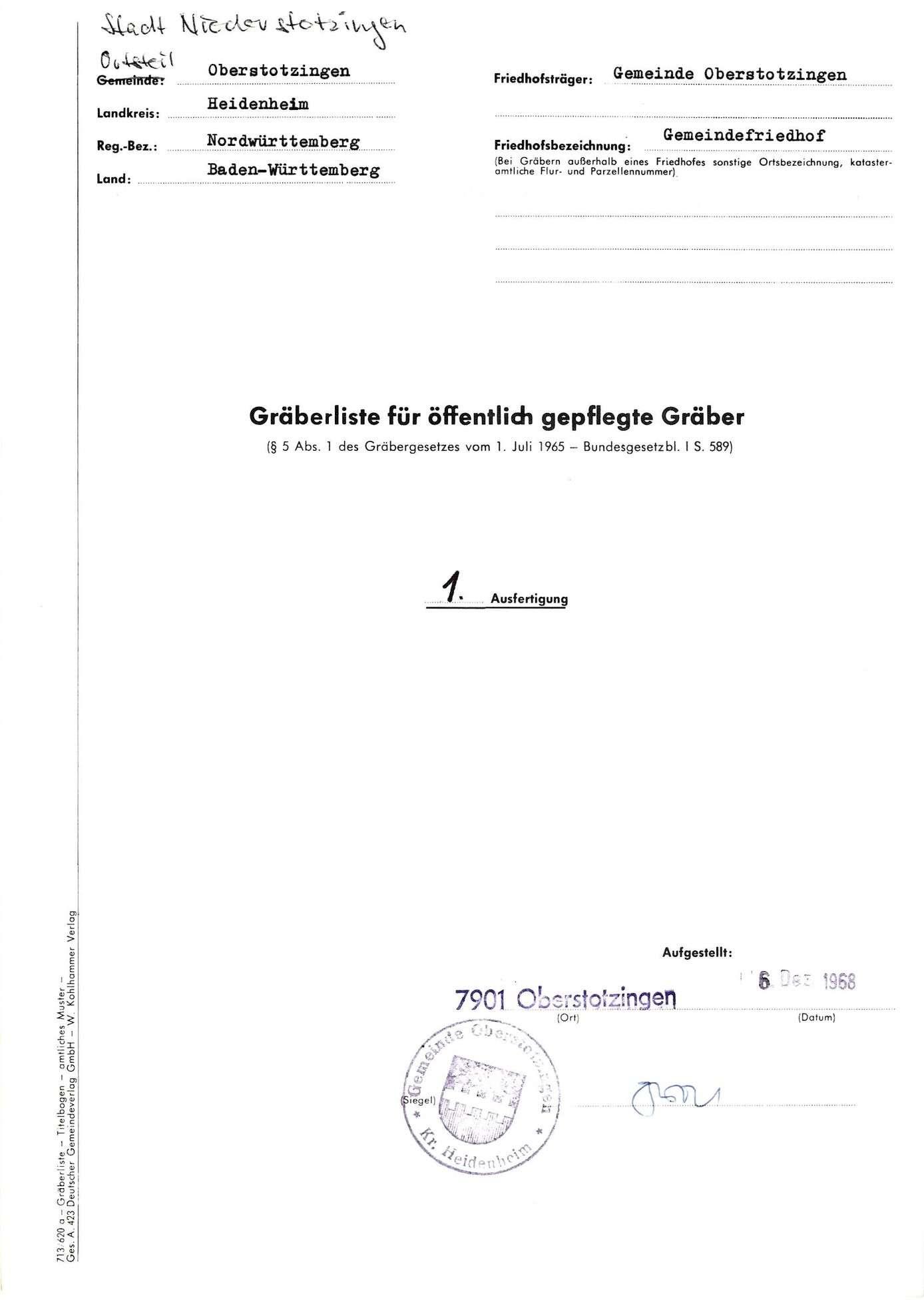 Oberstotzingen, Bild 1