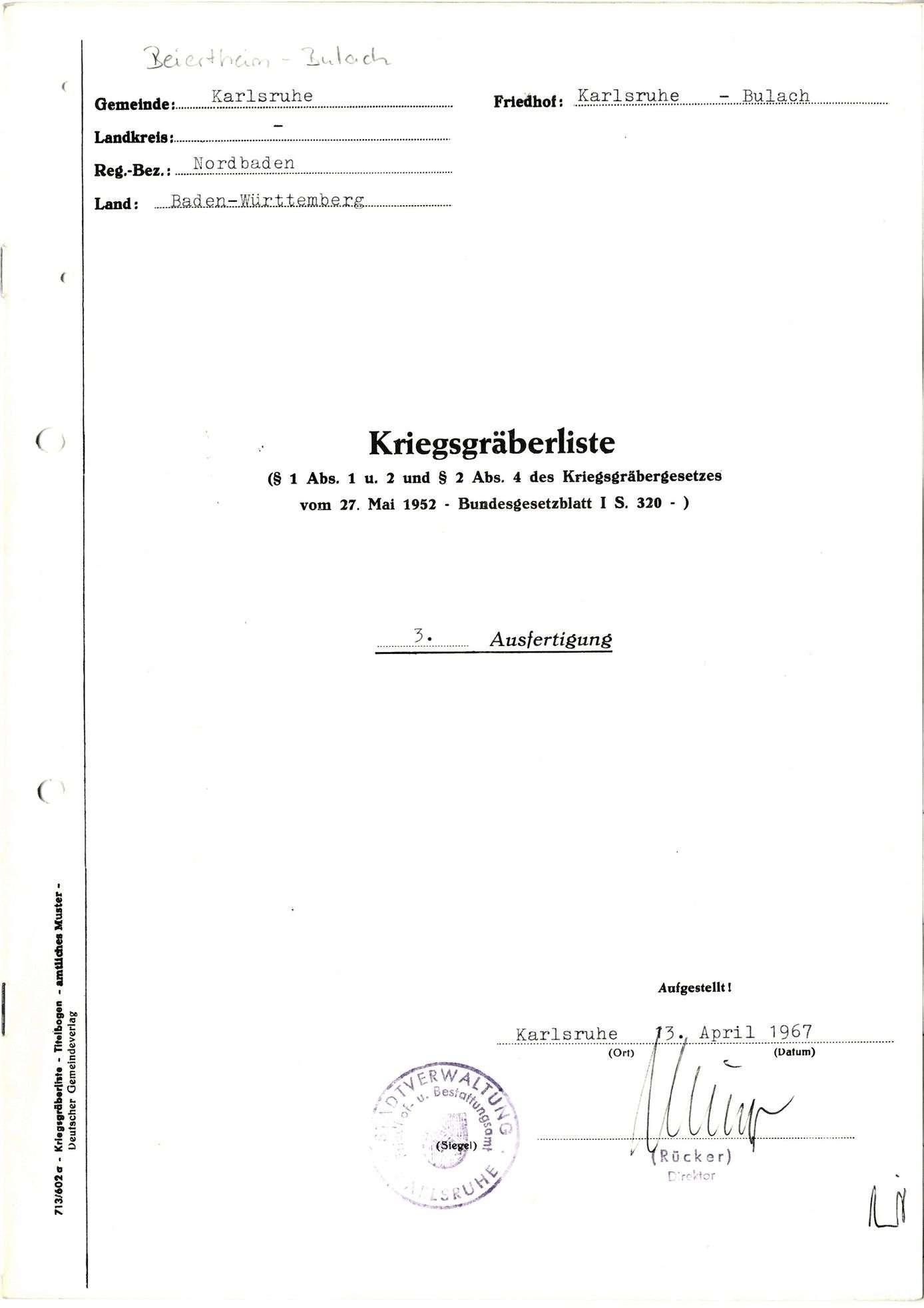 Beiertheim-Bulach, Bild 1