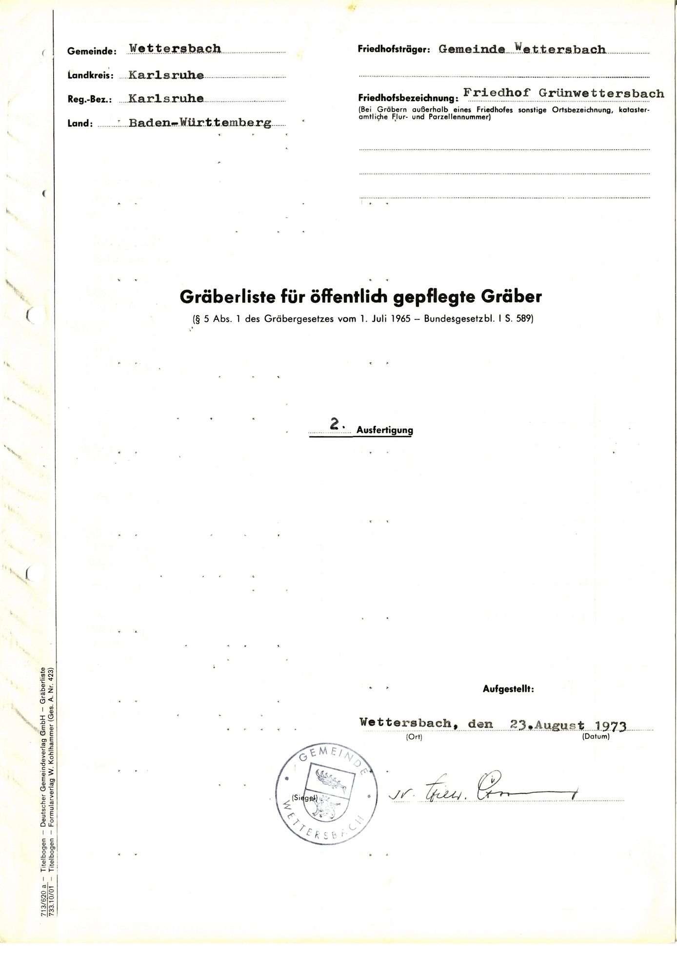 Grünwettersbach, Bild 1