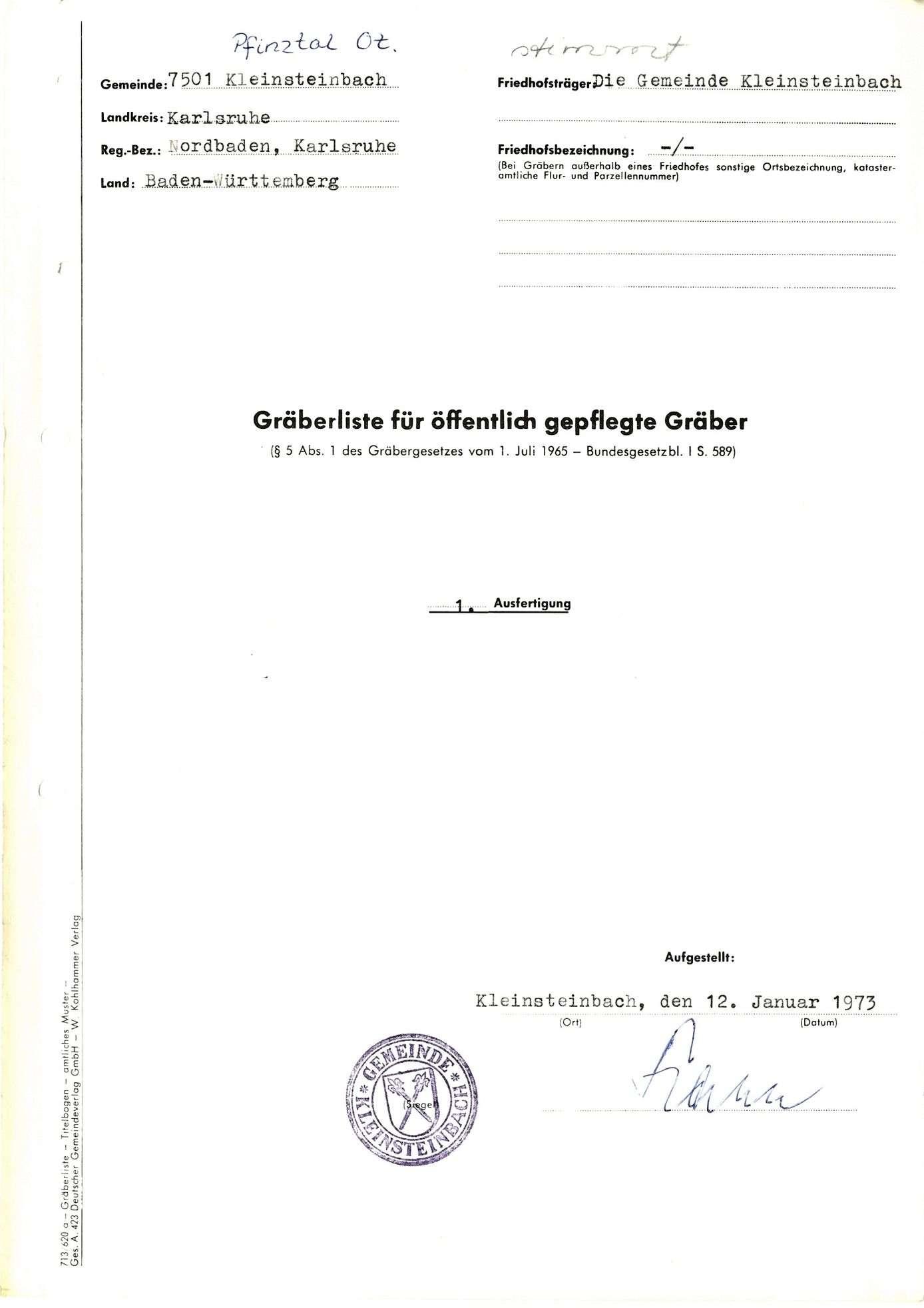Kleinsteinbach, Bild 1