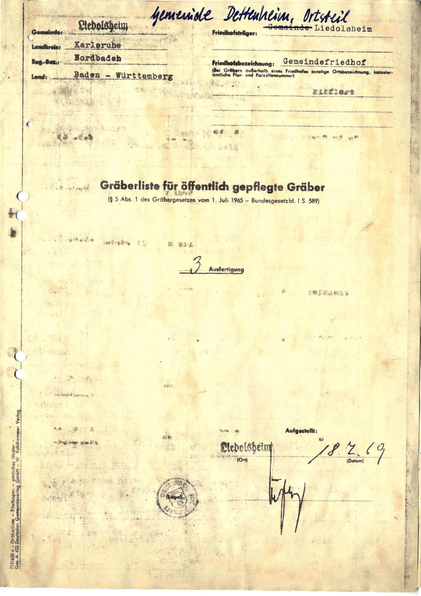 Liedolsheim, Bild 1