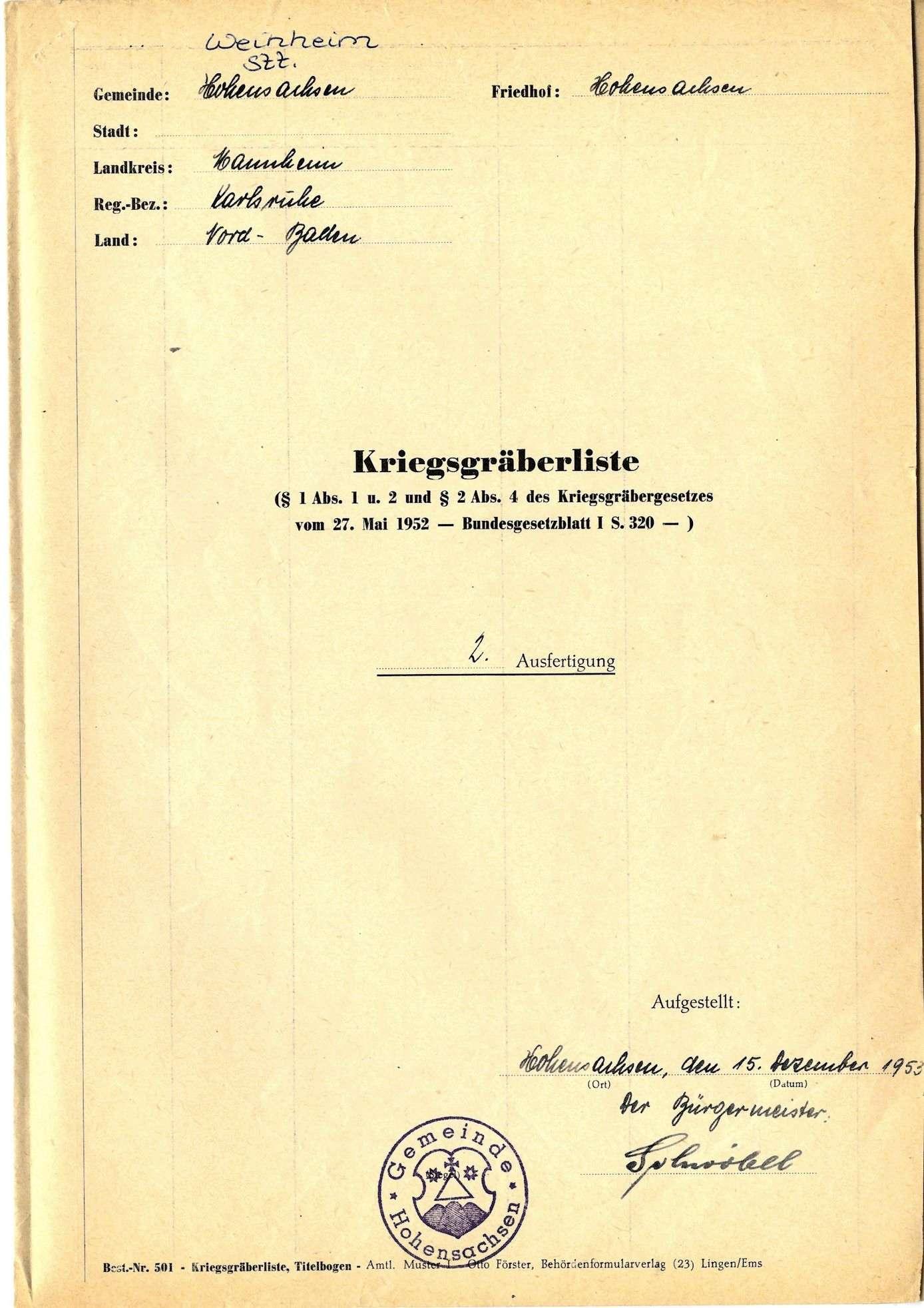 Hohensachsen, Bild 1