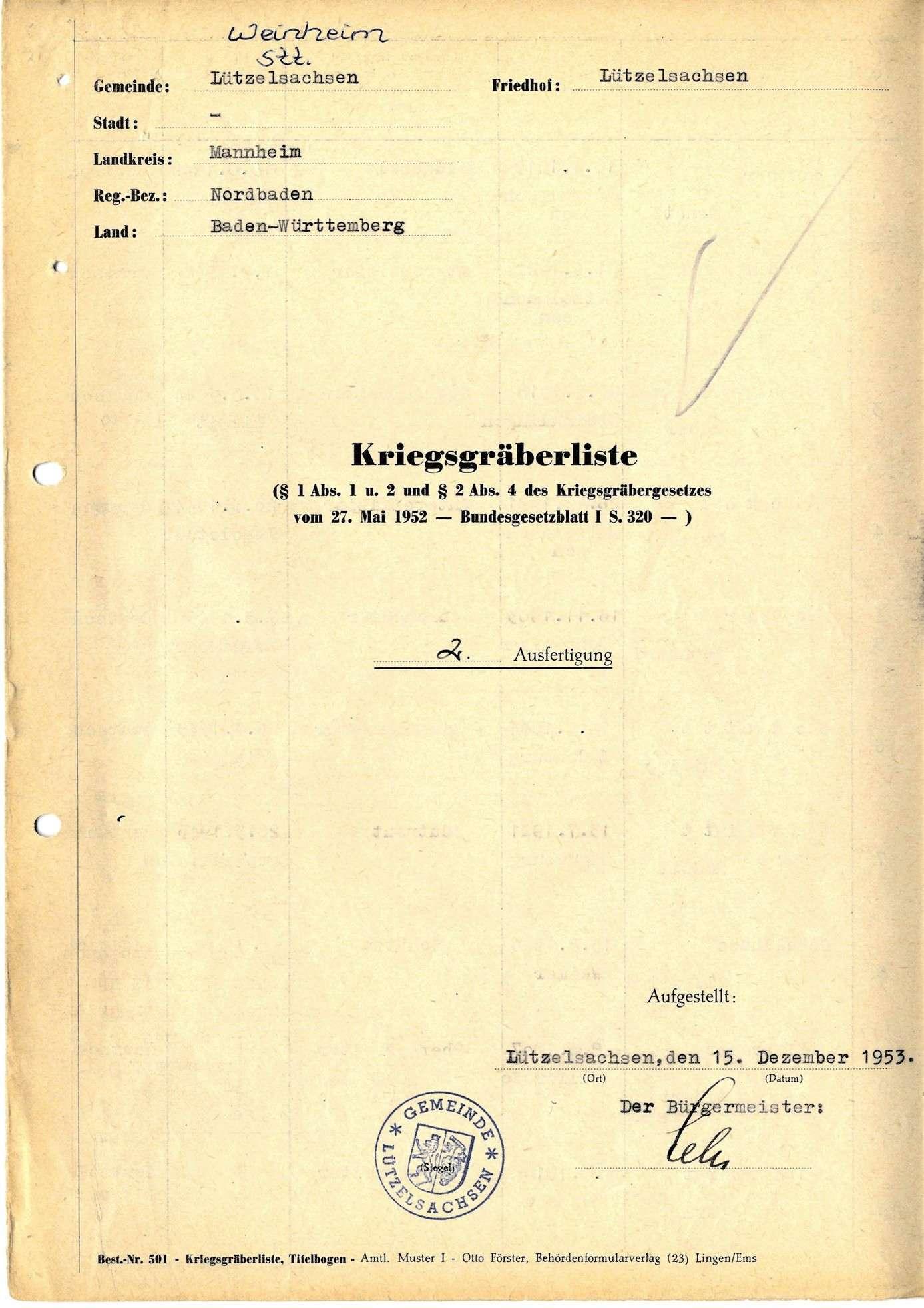 Lützelsachsen, Bild 1