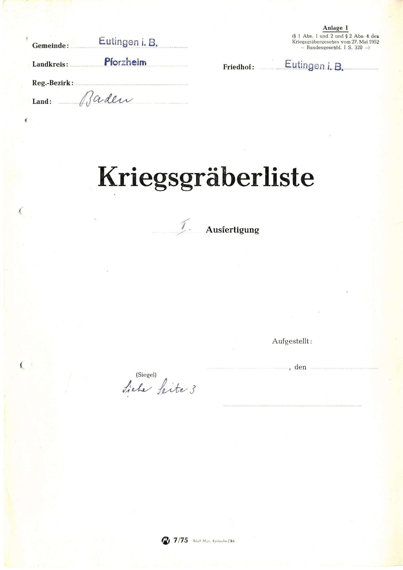Eutingen, Bild 1