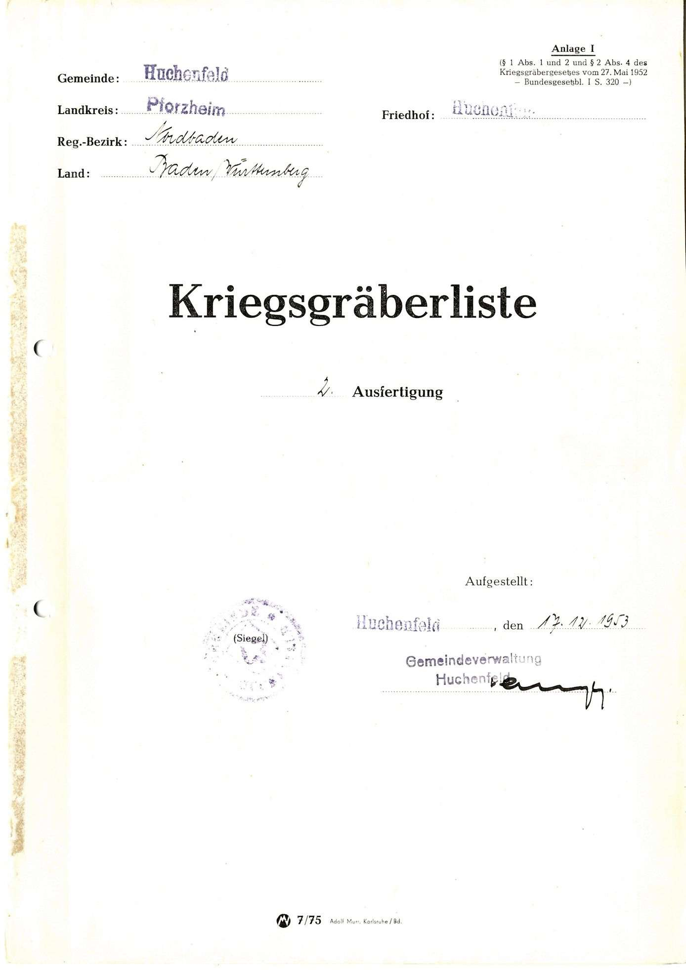 Huchenfeld, Bild 1