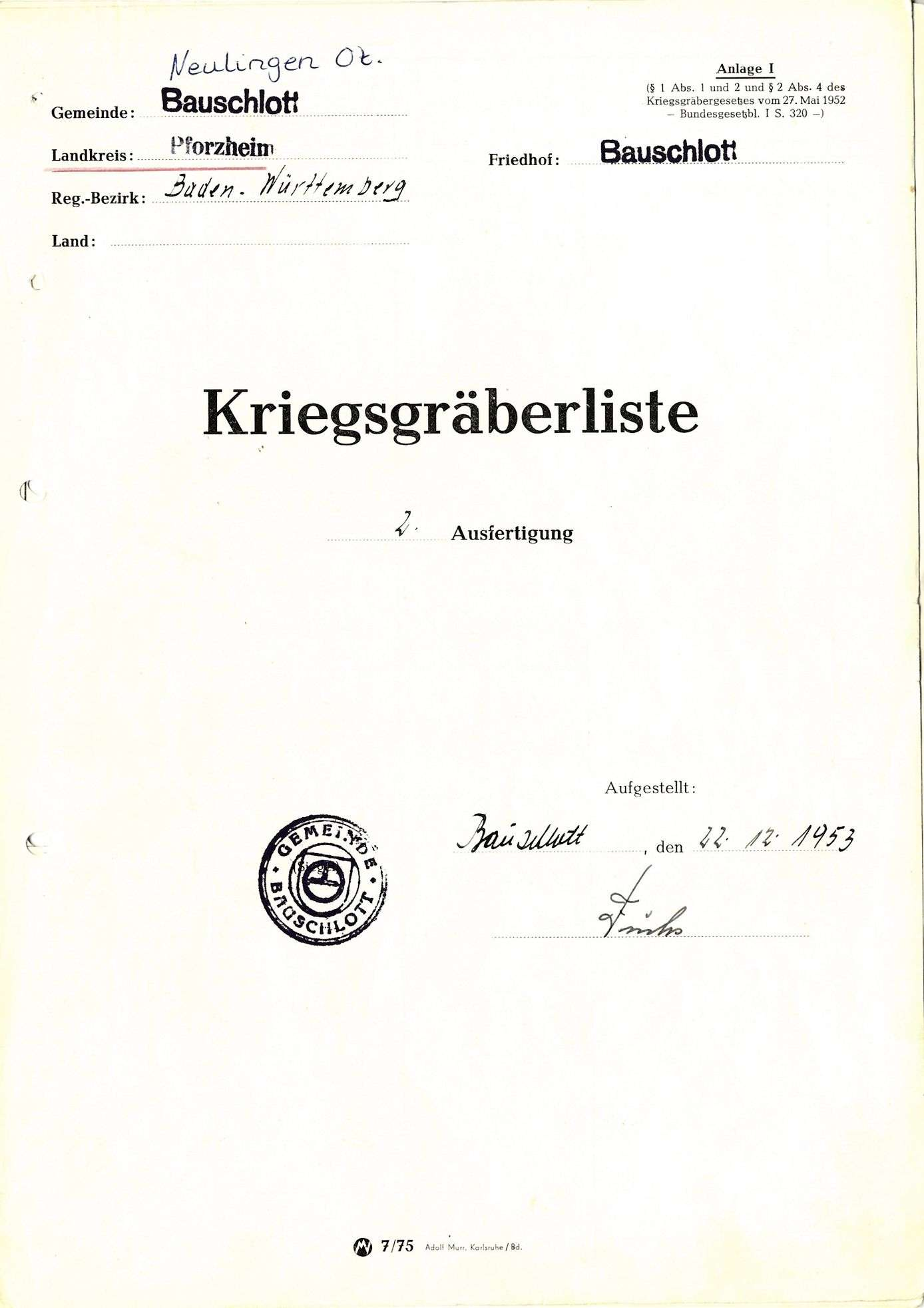 Bauschlott, Bild 1