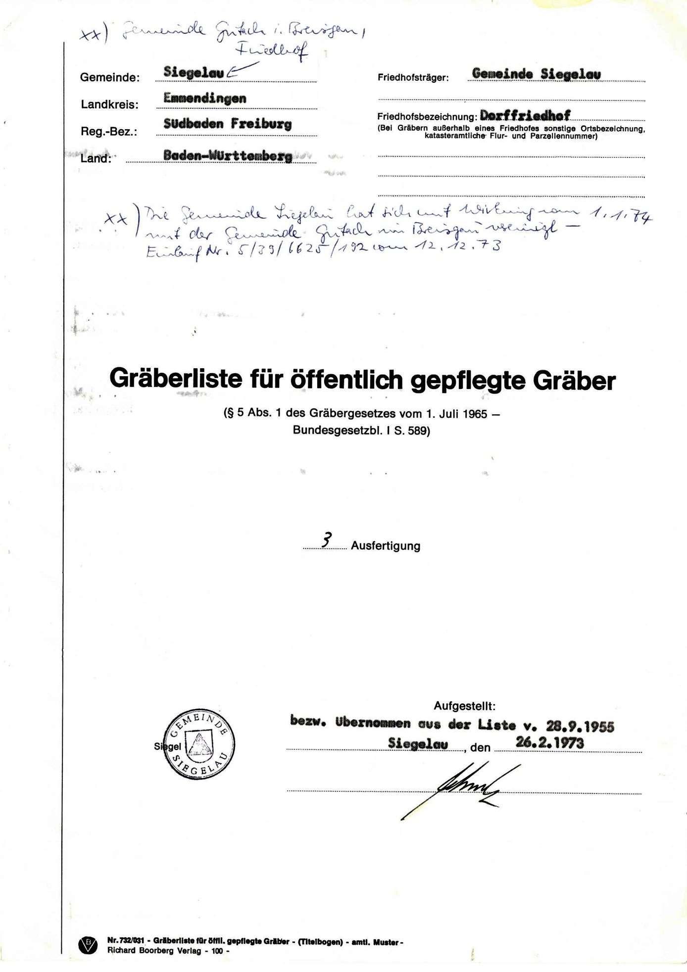 Siegelau, Bild 1