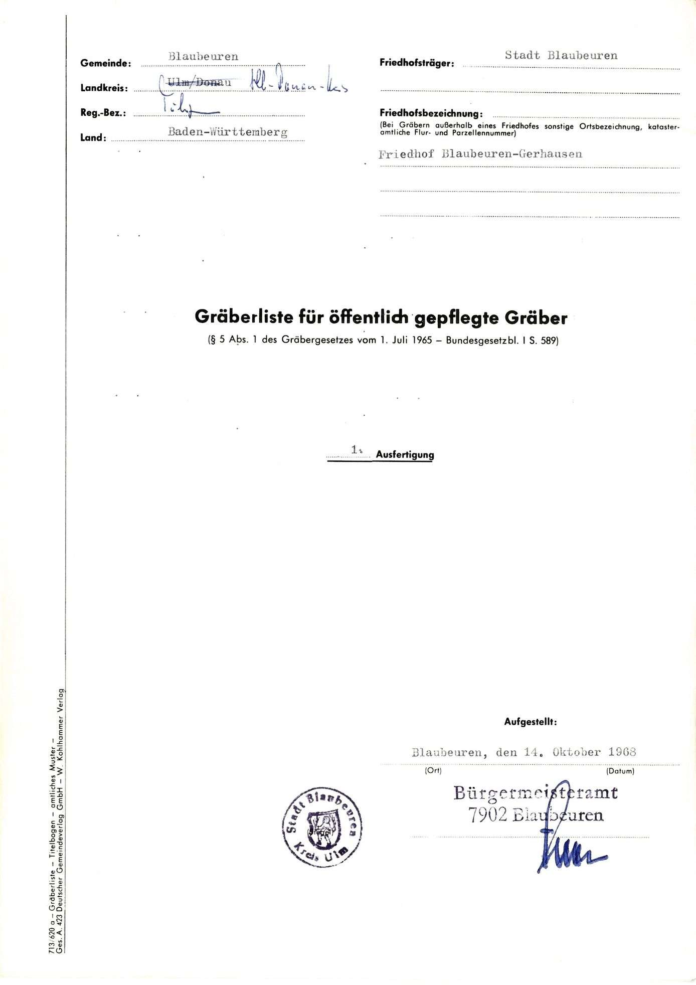 Blaubeuren-Gerhausen, Bild 1