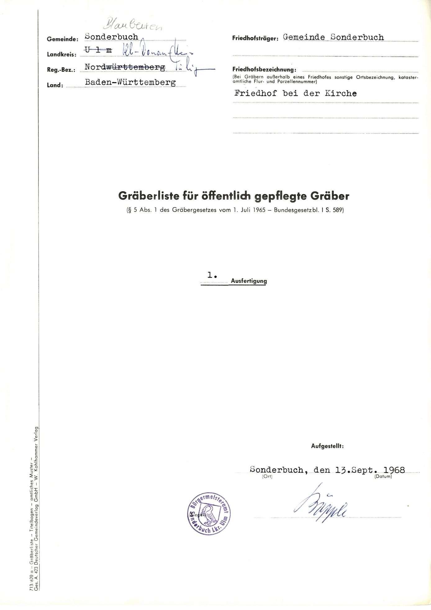 Sonderbuch, Bild 1