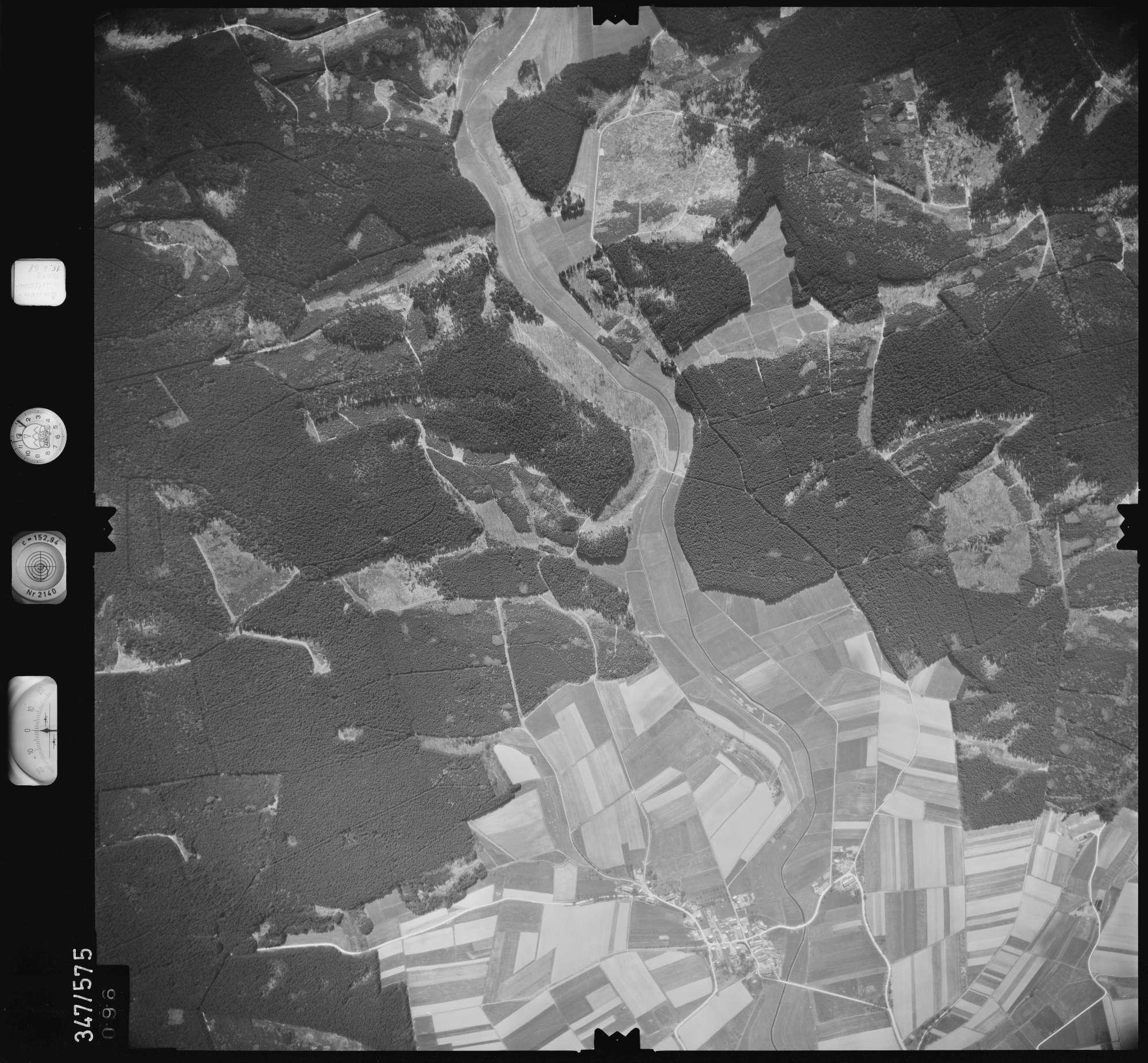 Luftbild: Film 45 Bildnr. 96, Bild 1