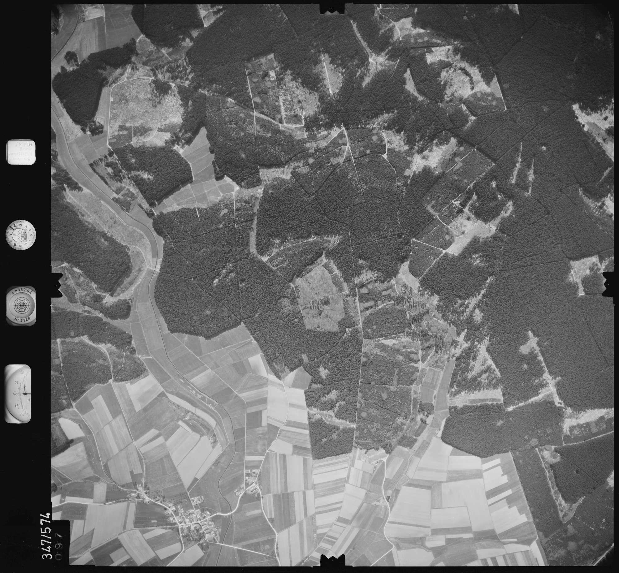 Luftbild: Film 45 Bildnr. 97, Bild 1