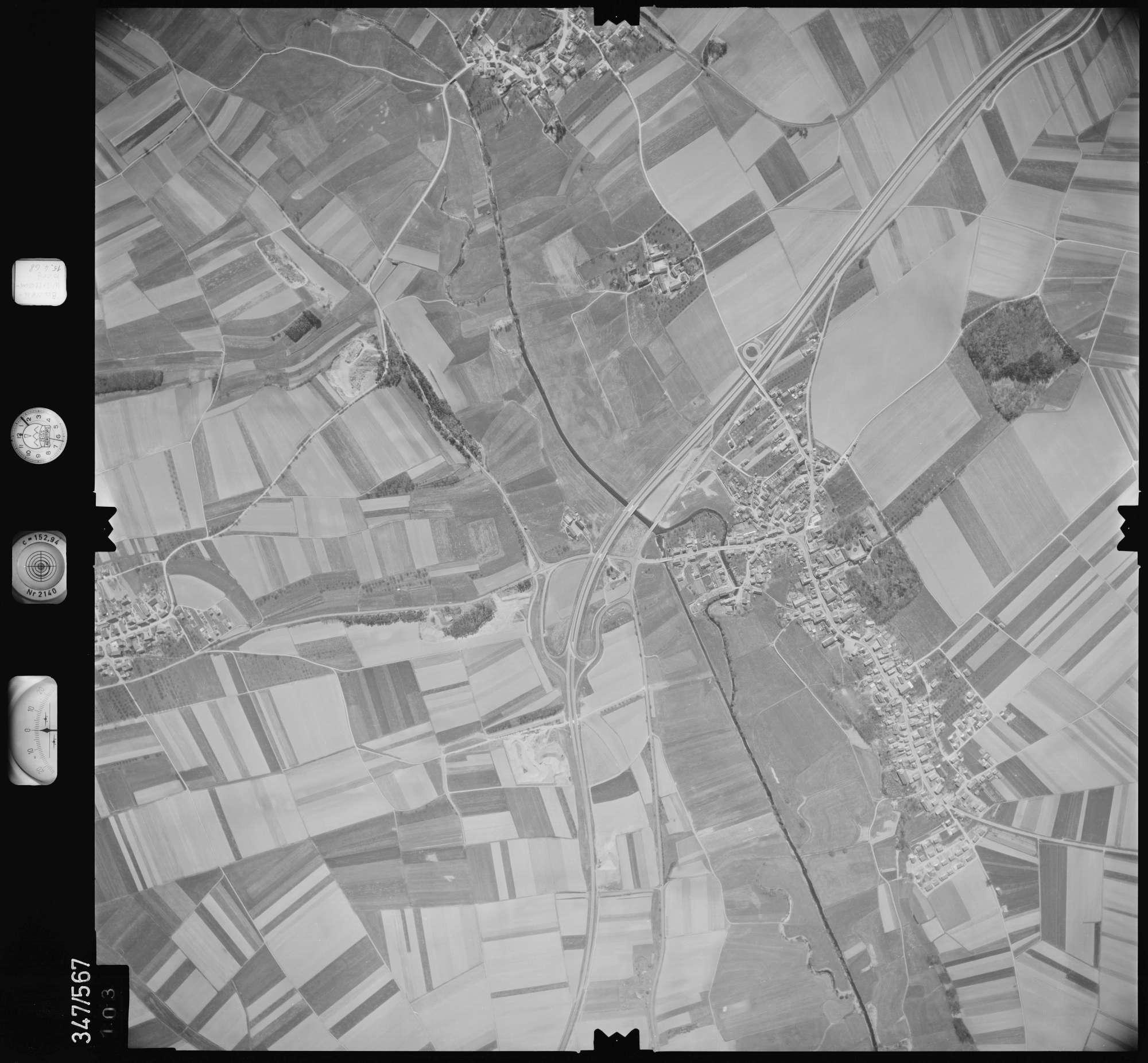 Luftbild: Film 45 Bildnr. 103, Bild 1