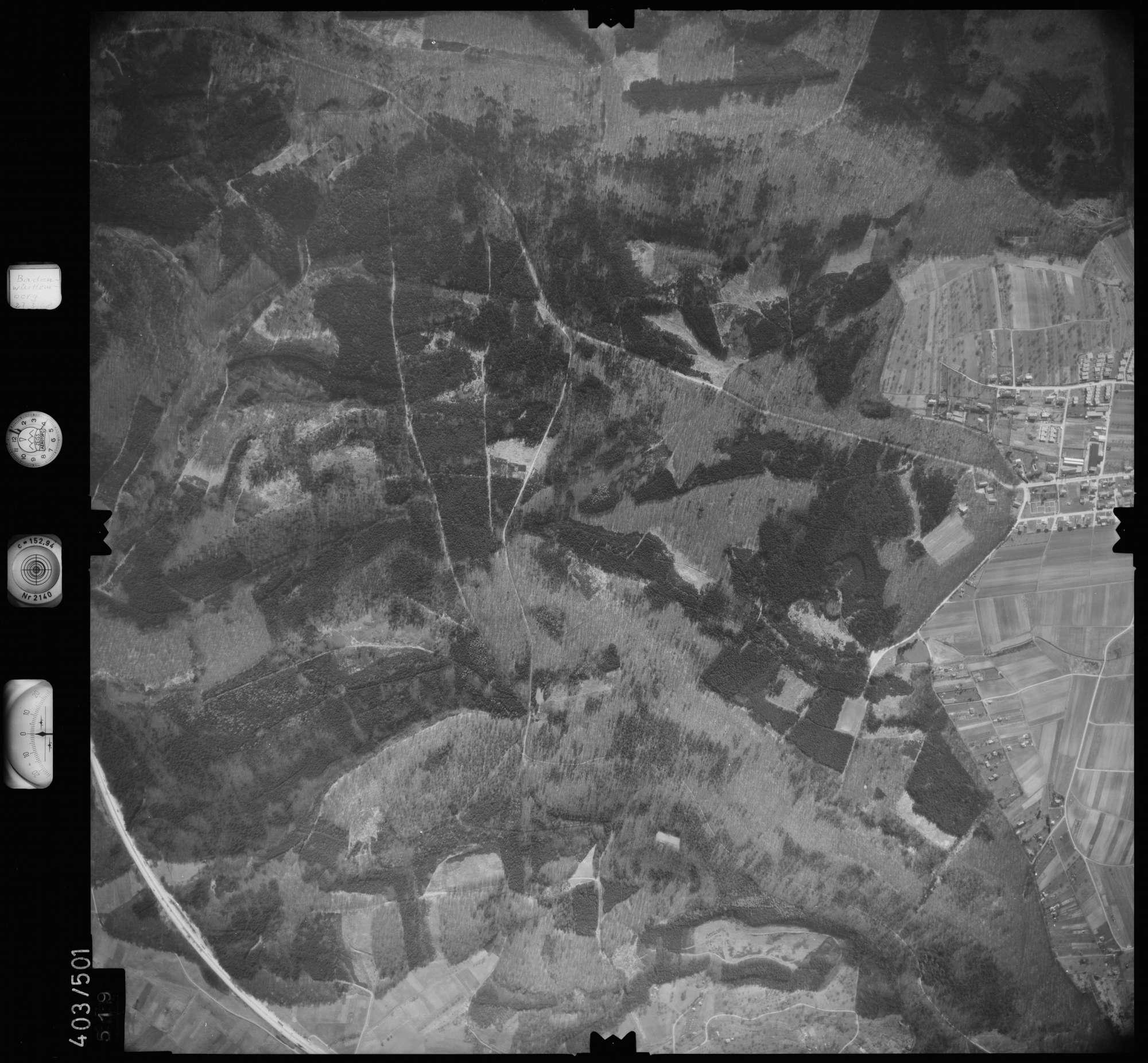 Luftbild: Film 10 Bildnr. 519, Bild 1