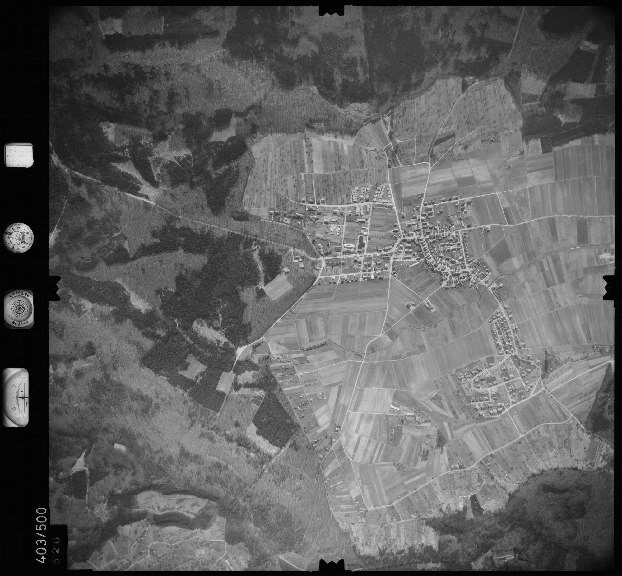 Luftbild: Film 10 Bildnr. 520, Bild 1