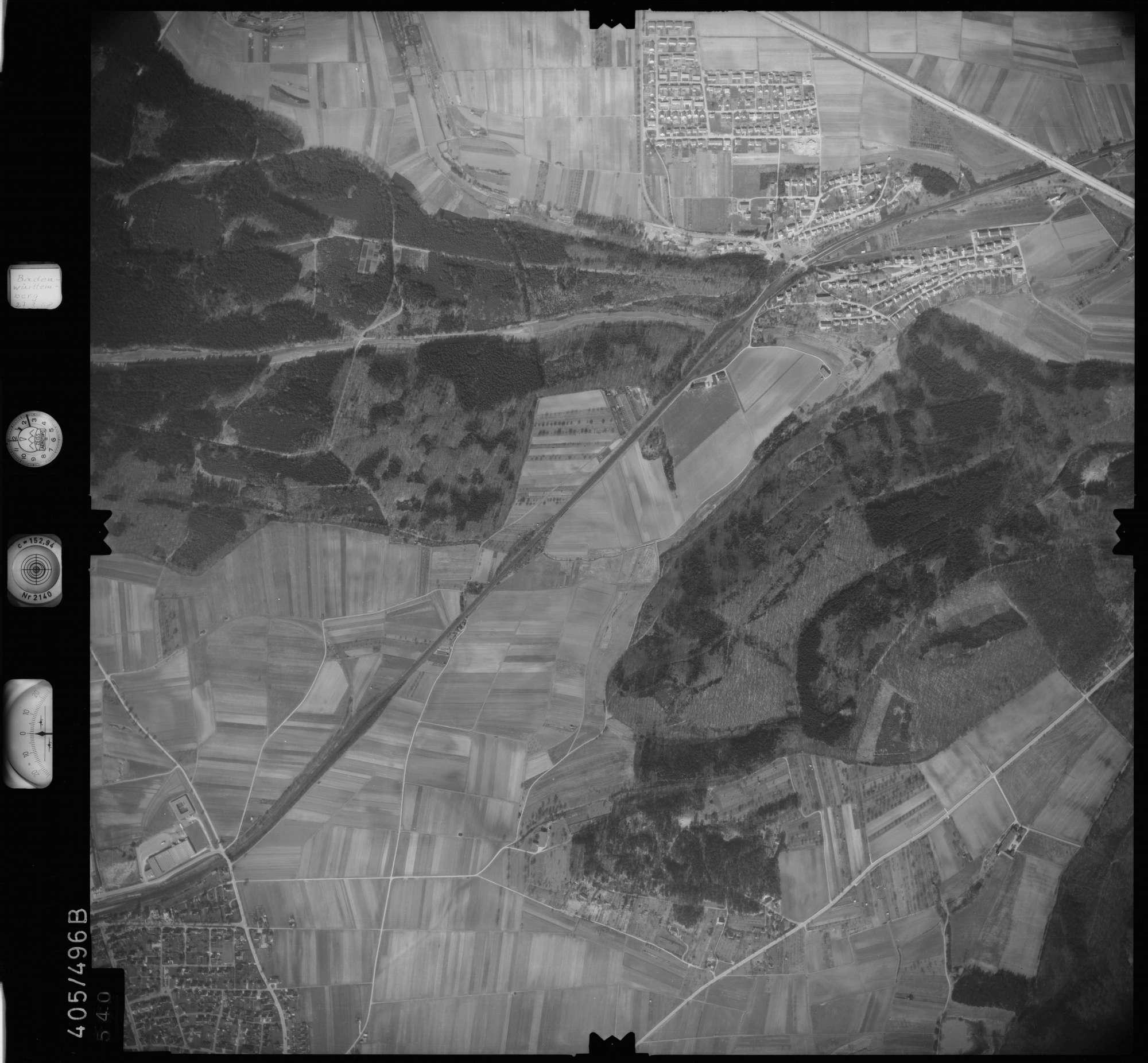 Luftbild: Film 10 Bildnr. 540, Bild 1