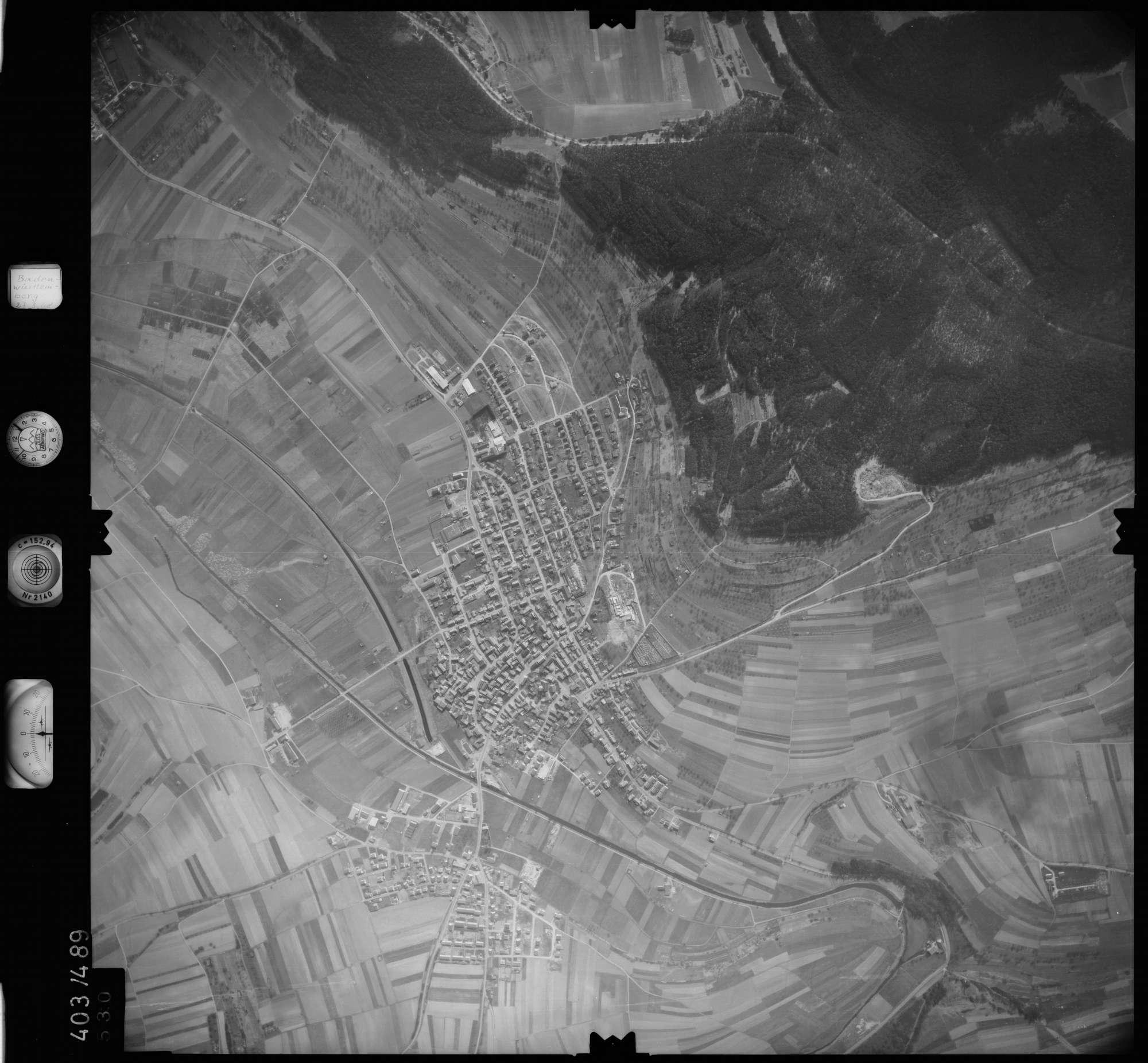 Luftbild: Film 10 Bildnr. 530, Bild 1