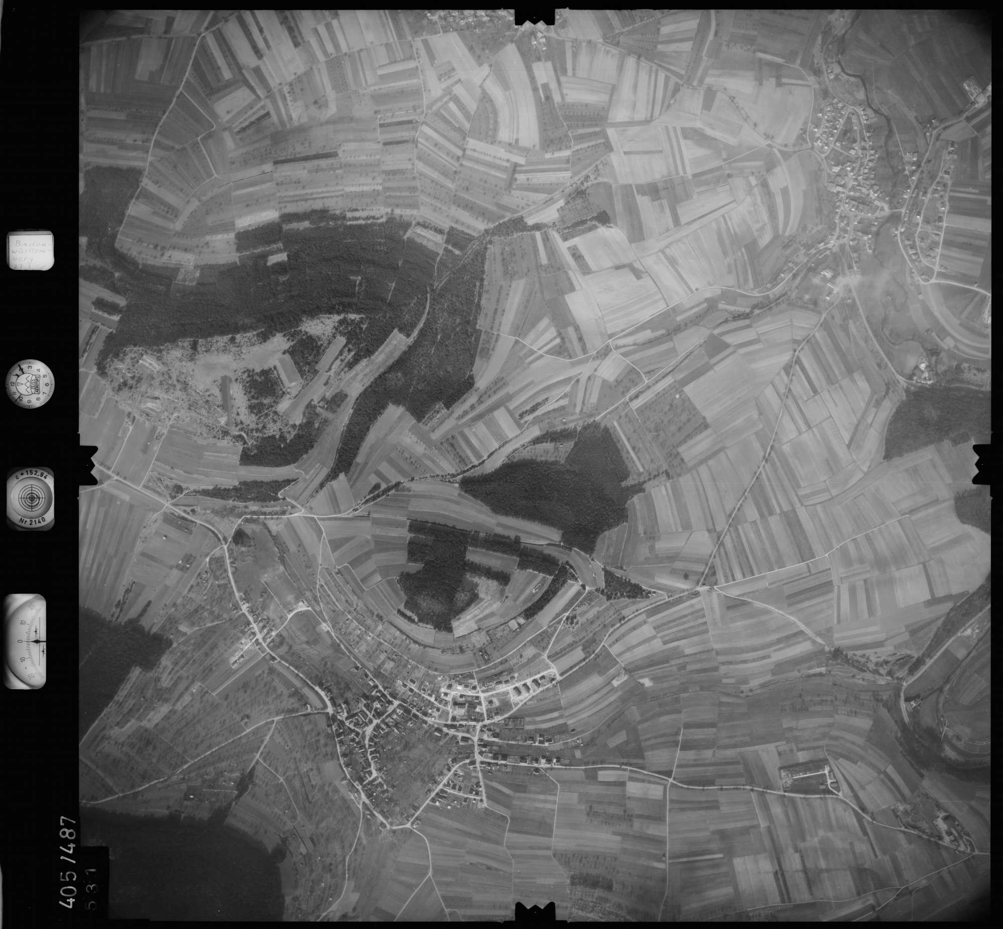 Luftbild: Film 10 Bildnr. 531, Bild 1