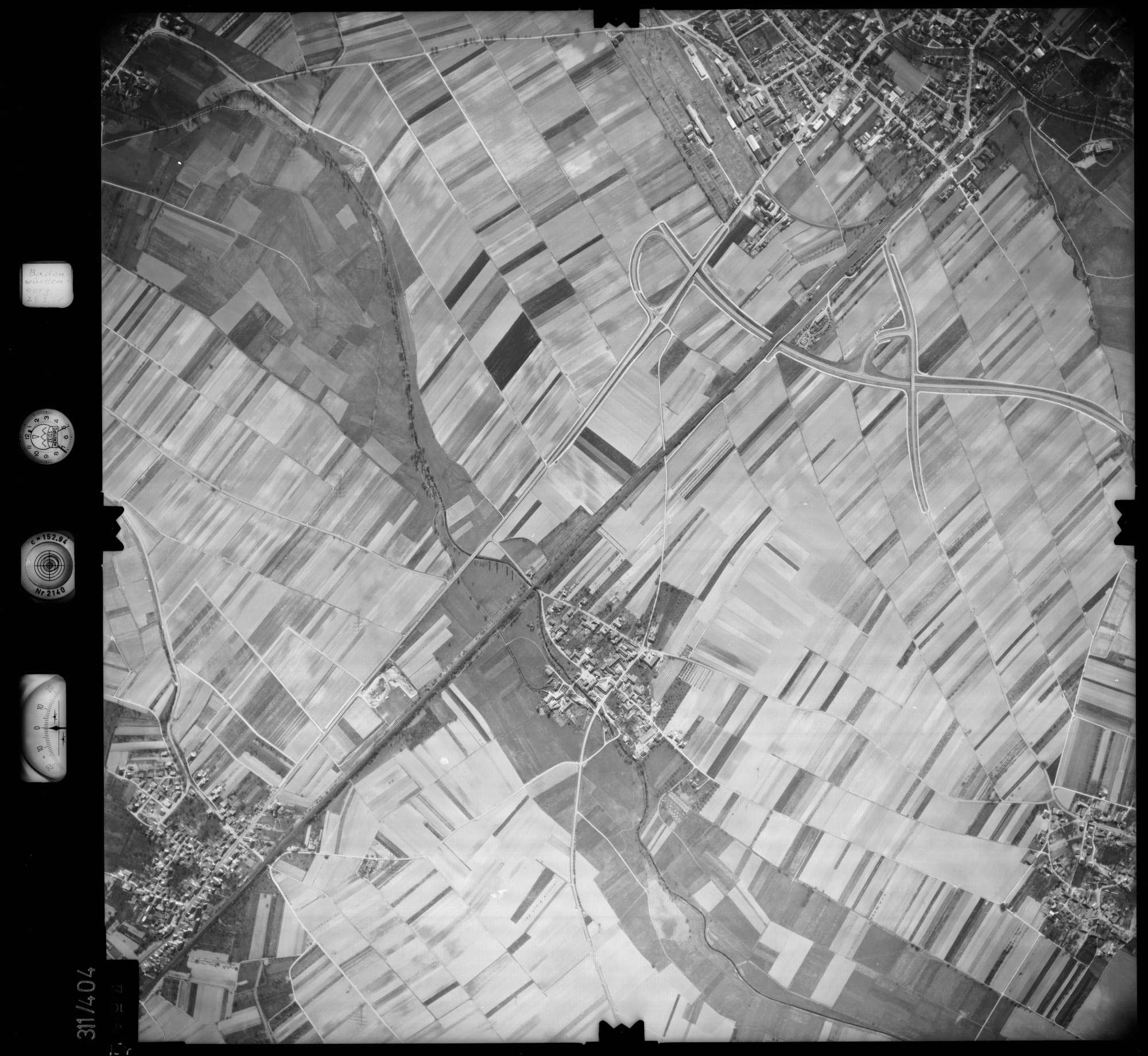 Luftbild: Film 54 Bildnr. 154, Bild 1