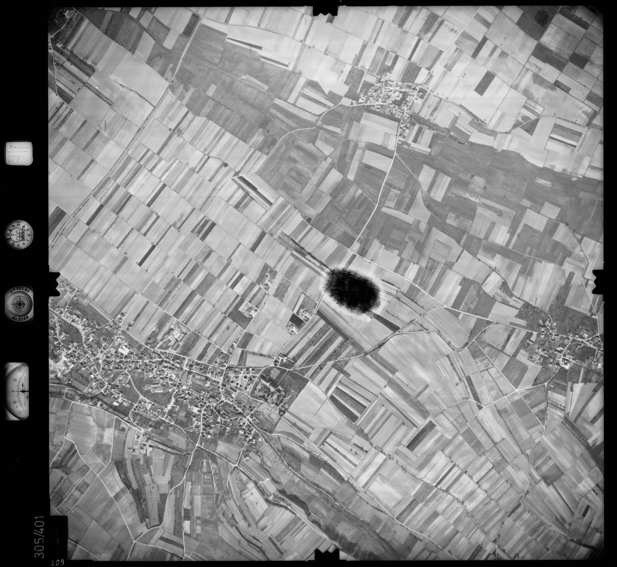 Luftbild: Film 54 Bildnr. 208, Bild 1