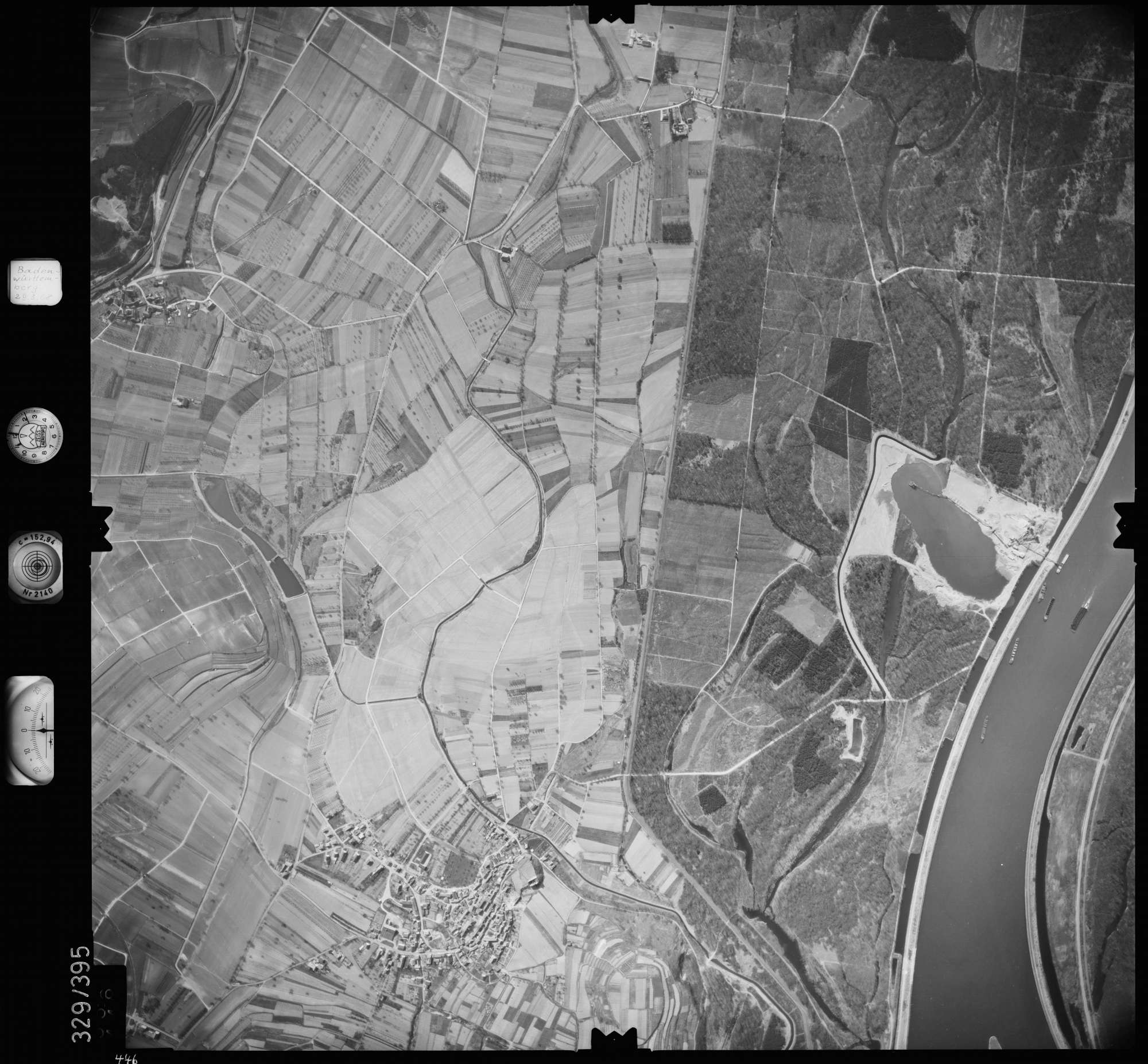 Luftbild: Film 47 Bildnr. 446, Bild 1