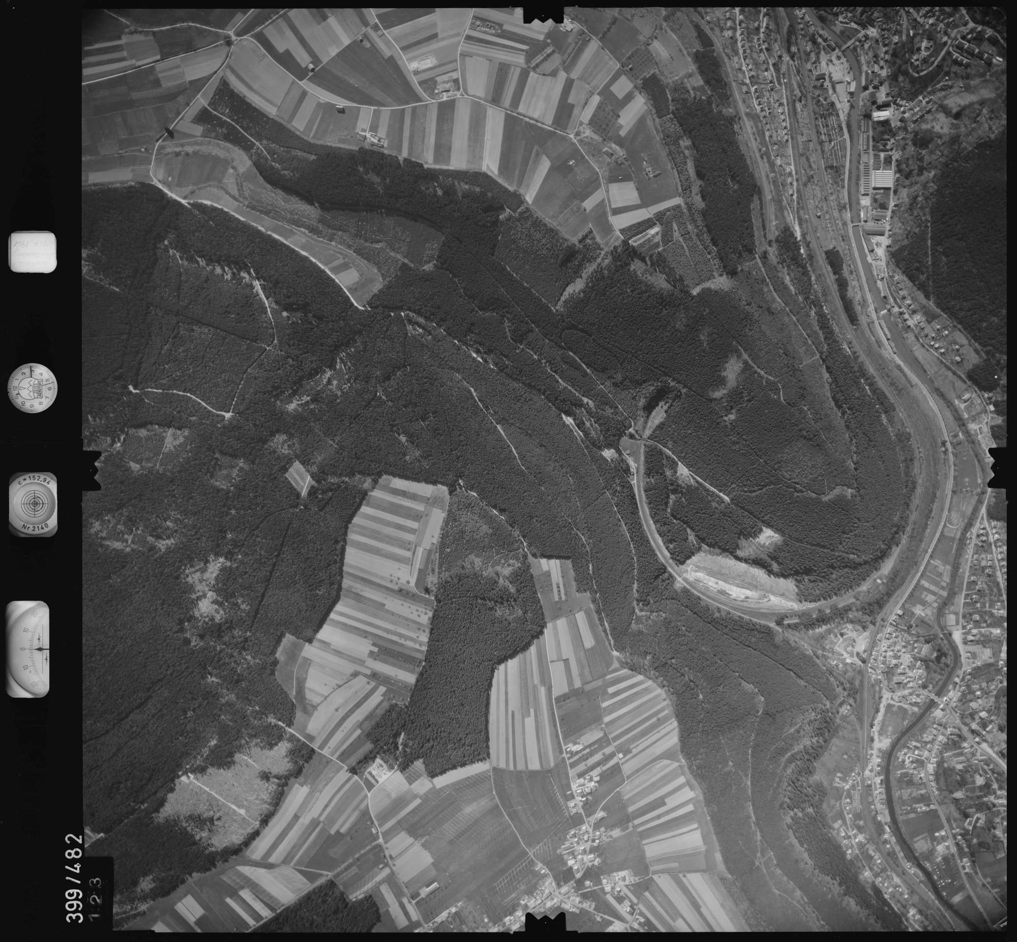 Luftbild: Film 11 Bildnr. 123, Bild 1
