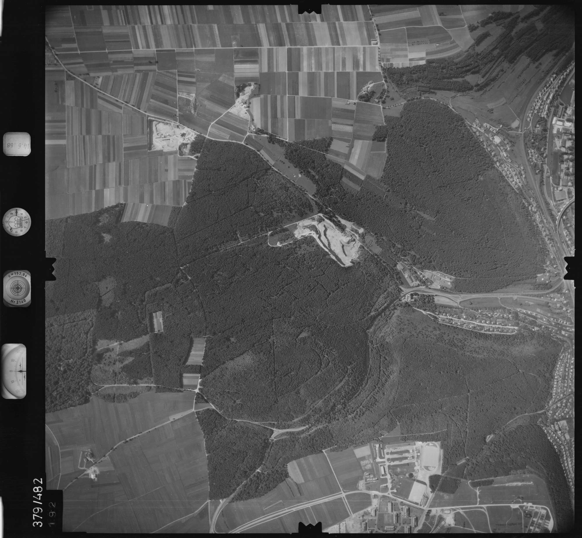 Luftbild: Film 21 Bildnr. 192, Bild 1