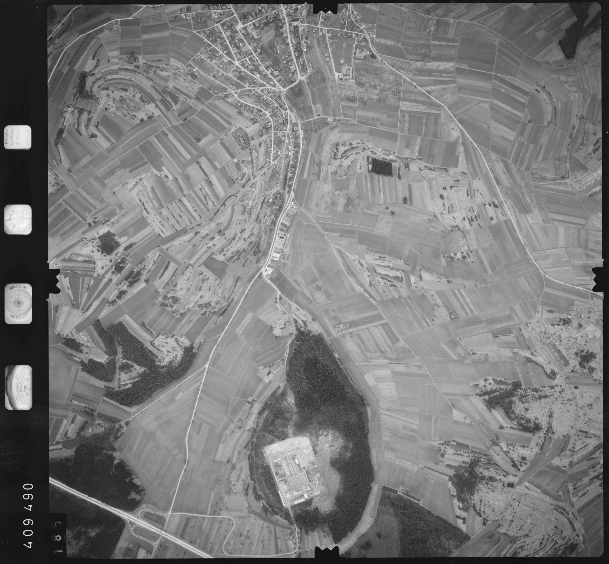 Luftbild: Film 5 Bildnr. 185, Bild 1