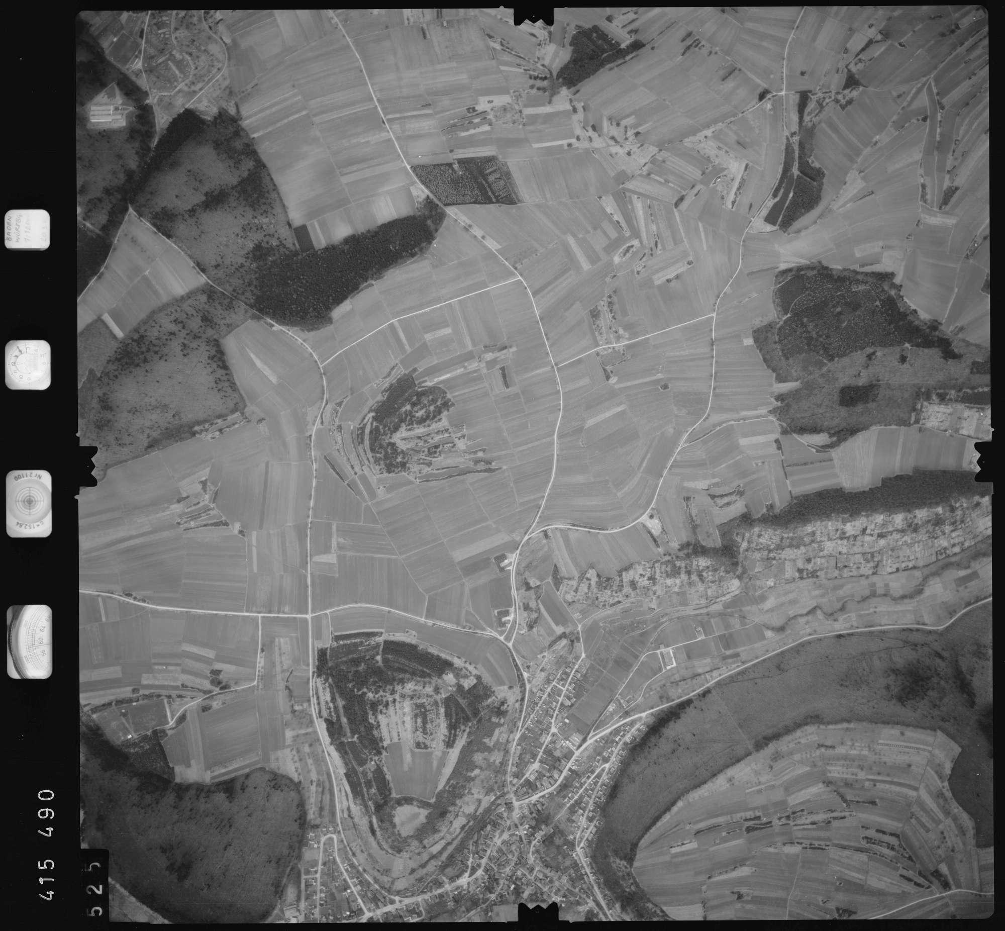 Luftbild: Film 2 Bildnr. 525, Bild 1