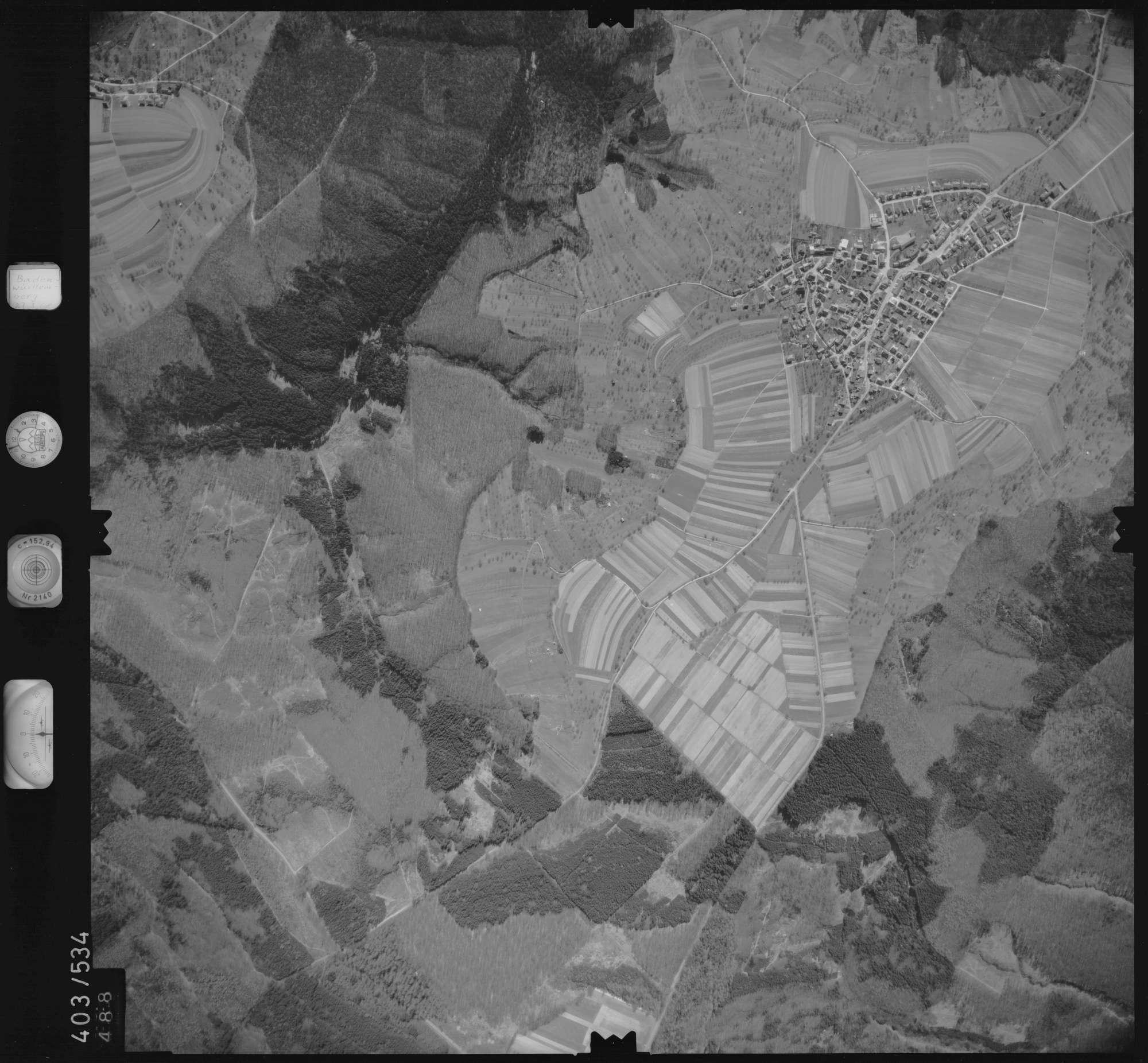 Luftbild: Film 10 Bildnr. 488, Bild 1