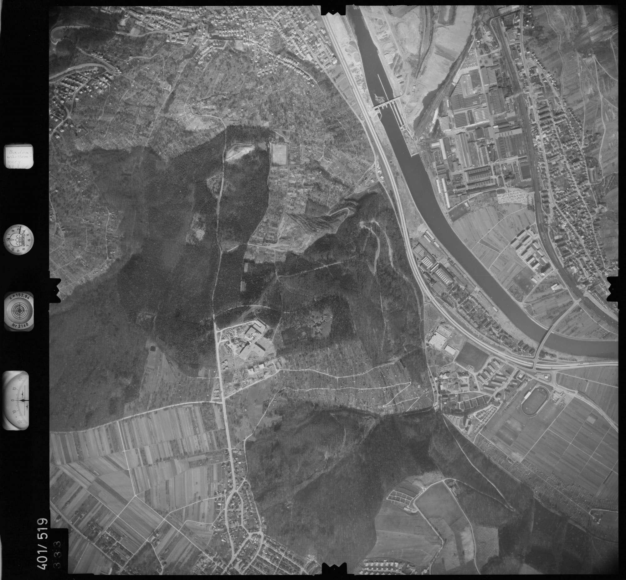 Luftbild: Film 10 Bildnr. 333, Bild 1