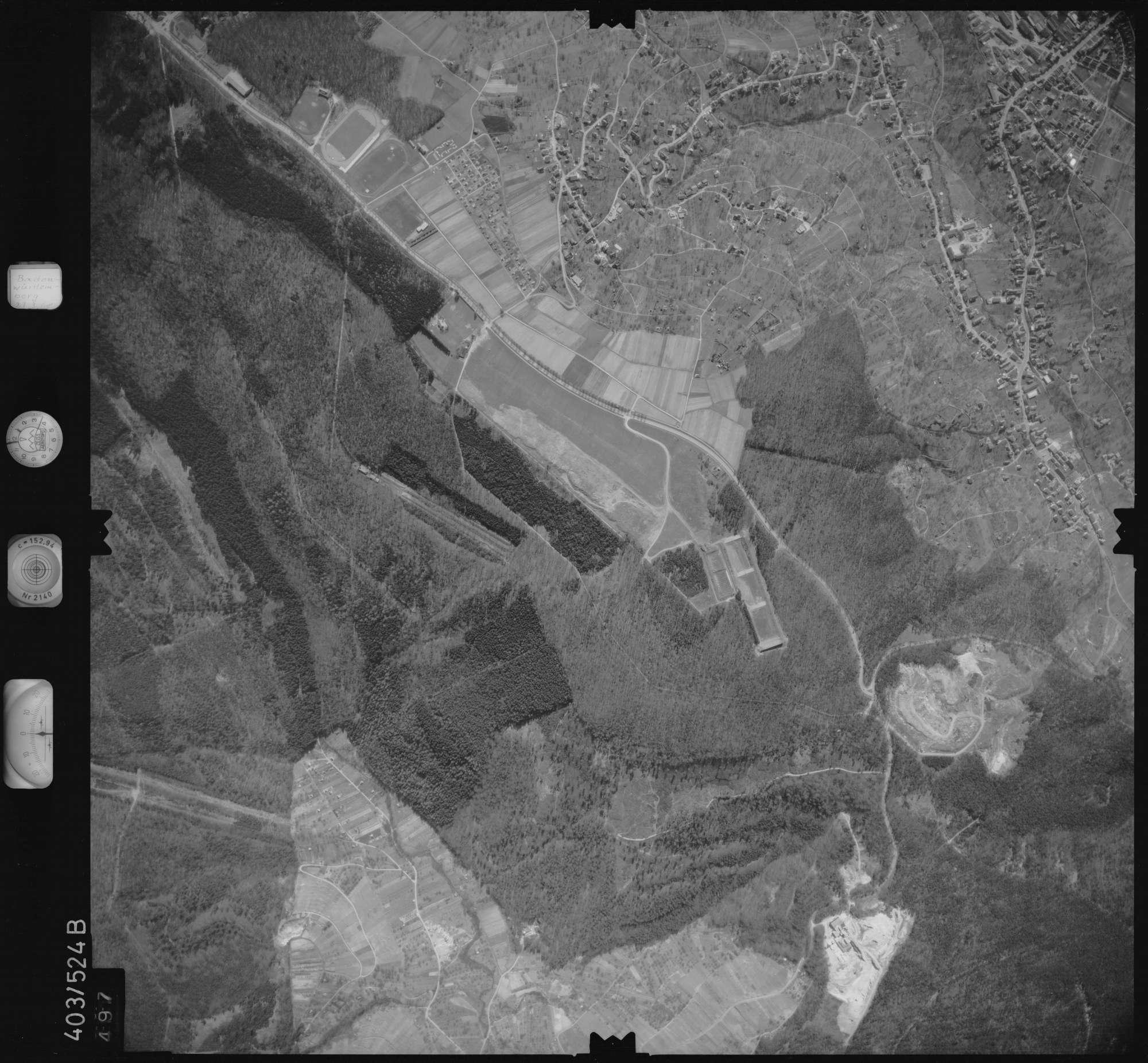 Luftbild: Film 10 Bildnr. 497, Bild 1