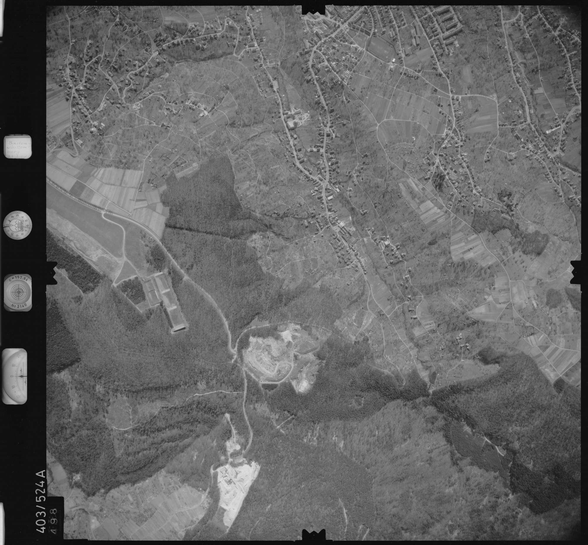 Luftbild: Film 10 Bildnr. 498, Bild 1