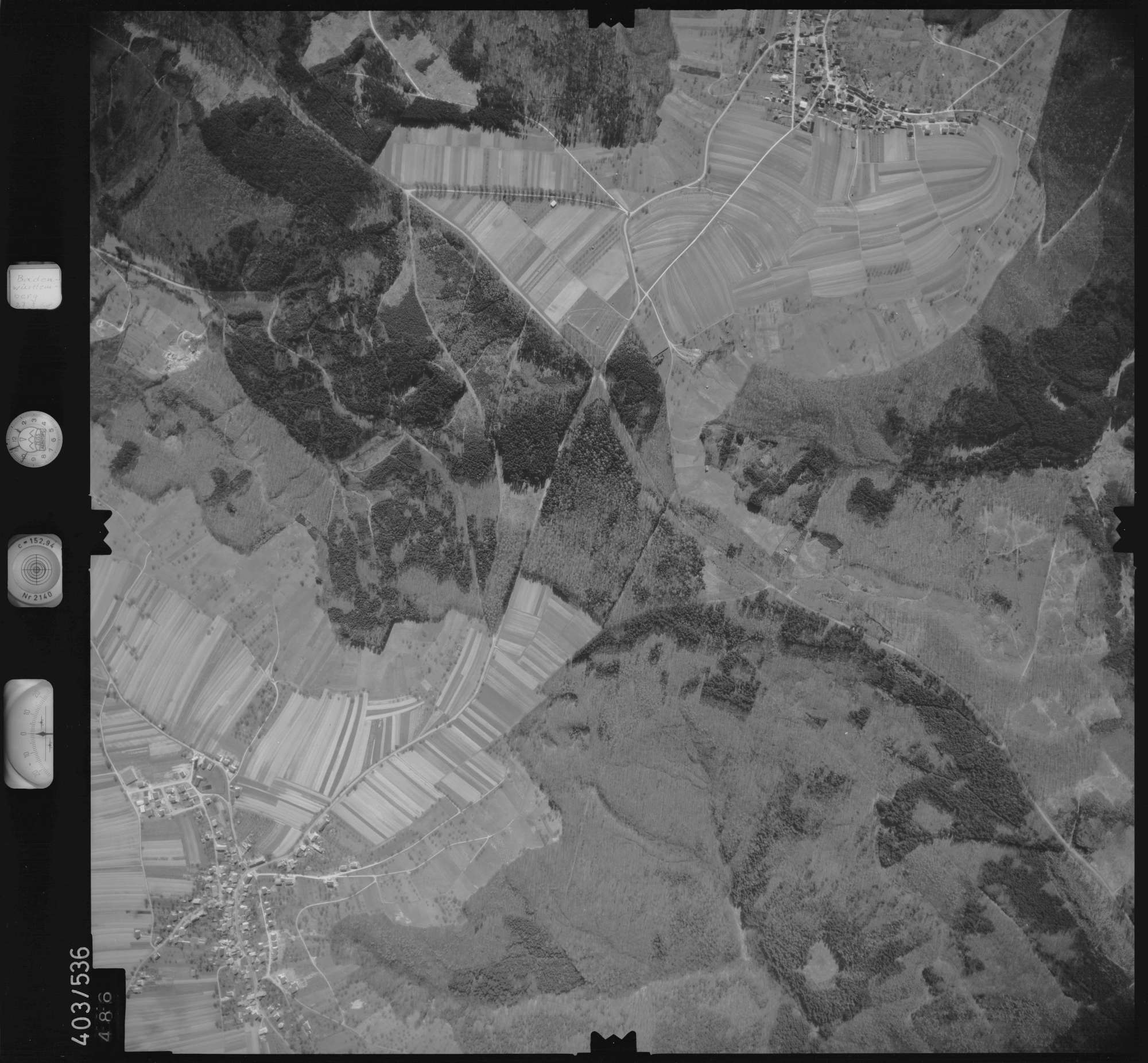 Luftbild: Film 10 Bildnr. 486, Bild 1