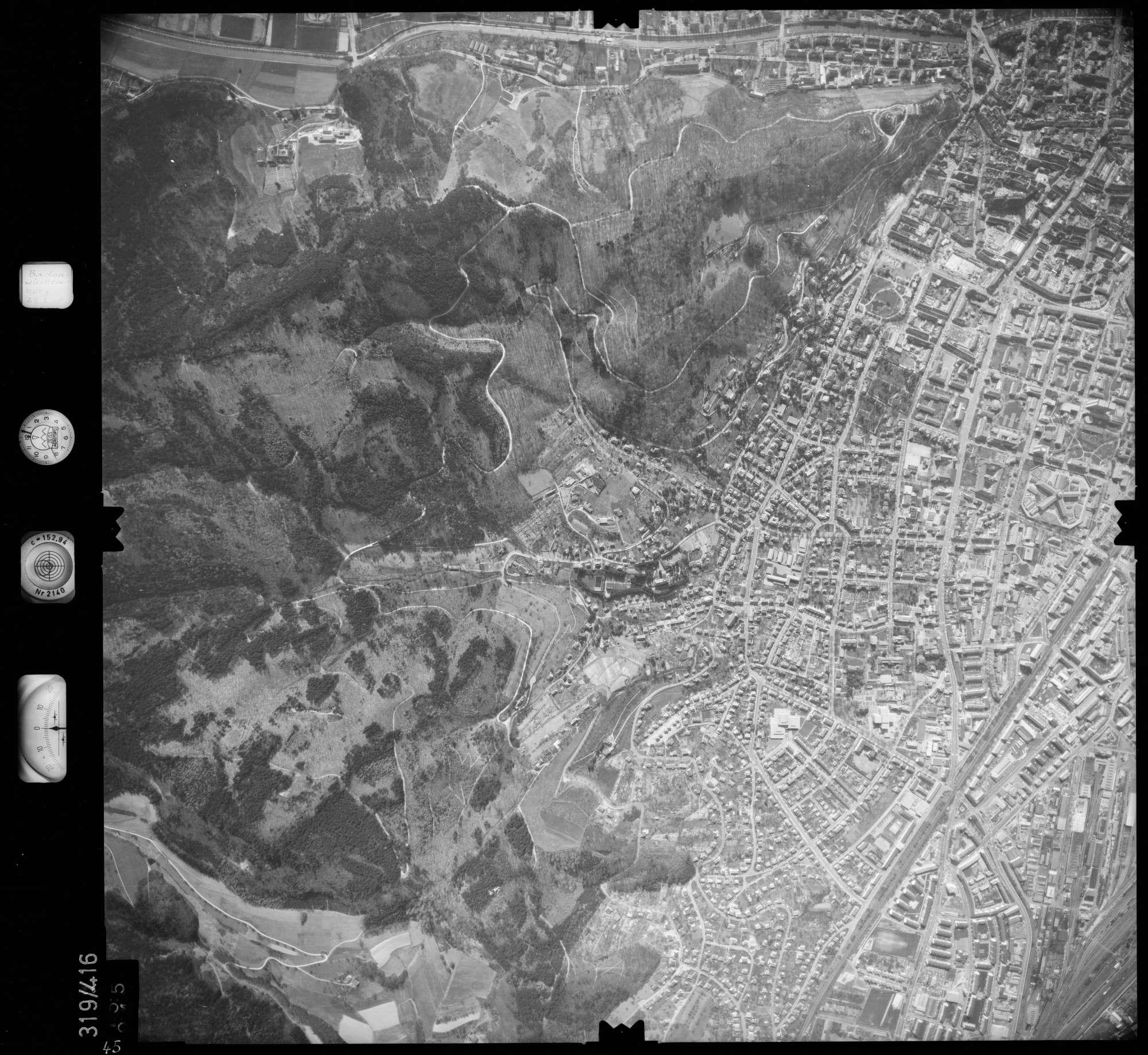 Luftbild: Film 54 Bildnr. 45, Bild 1
