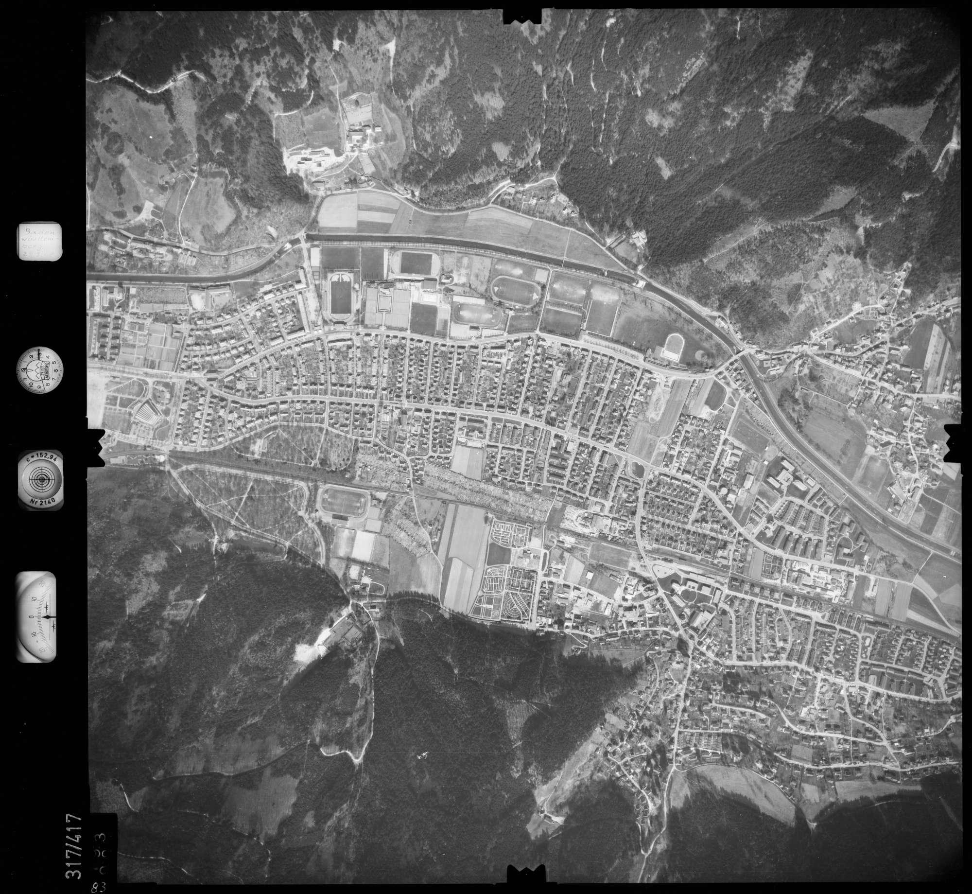 Luftbild: Film 54 Bildnr. 83, Bild 1