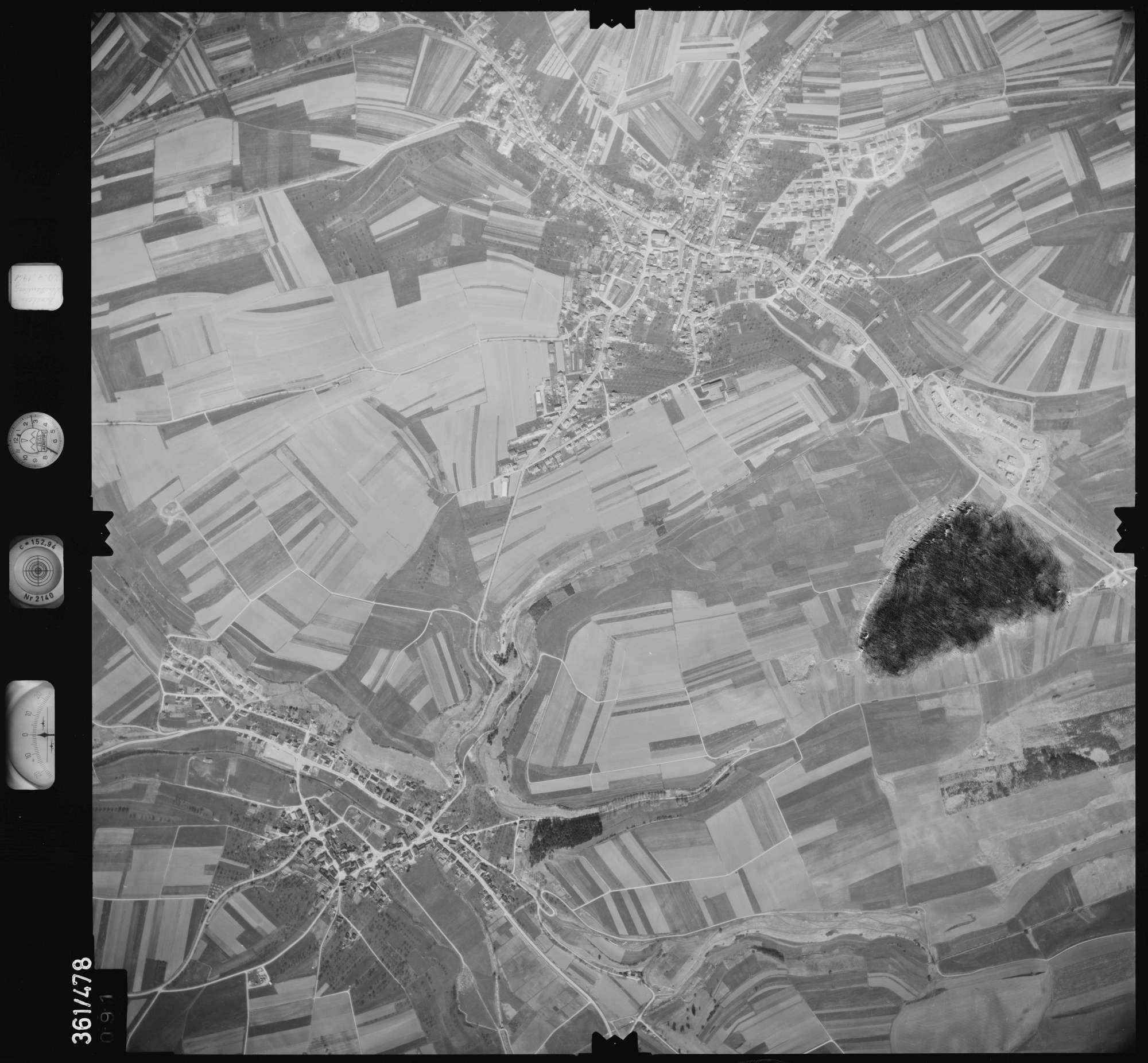 Luftbild: Film 15 Bildnr. 91, Bild 1