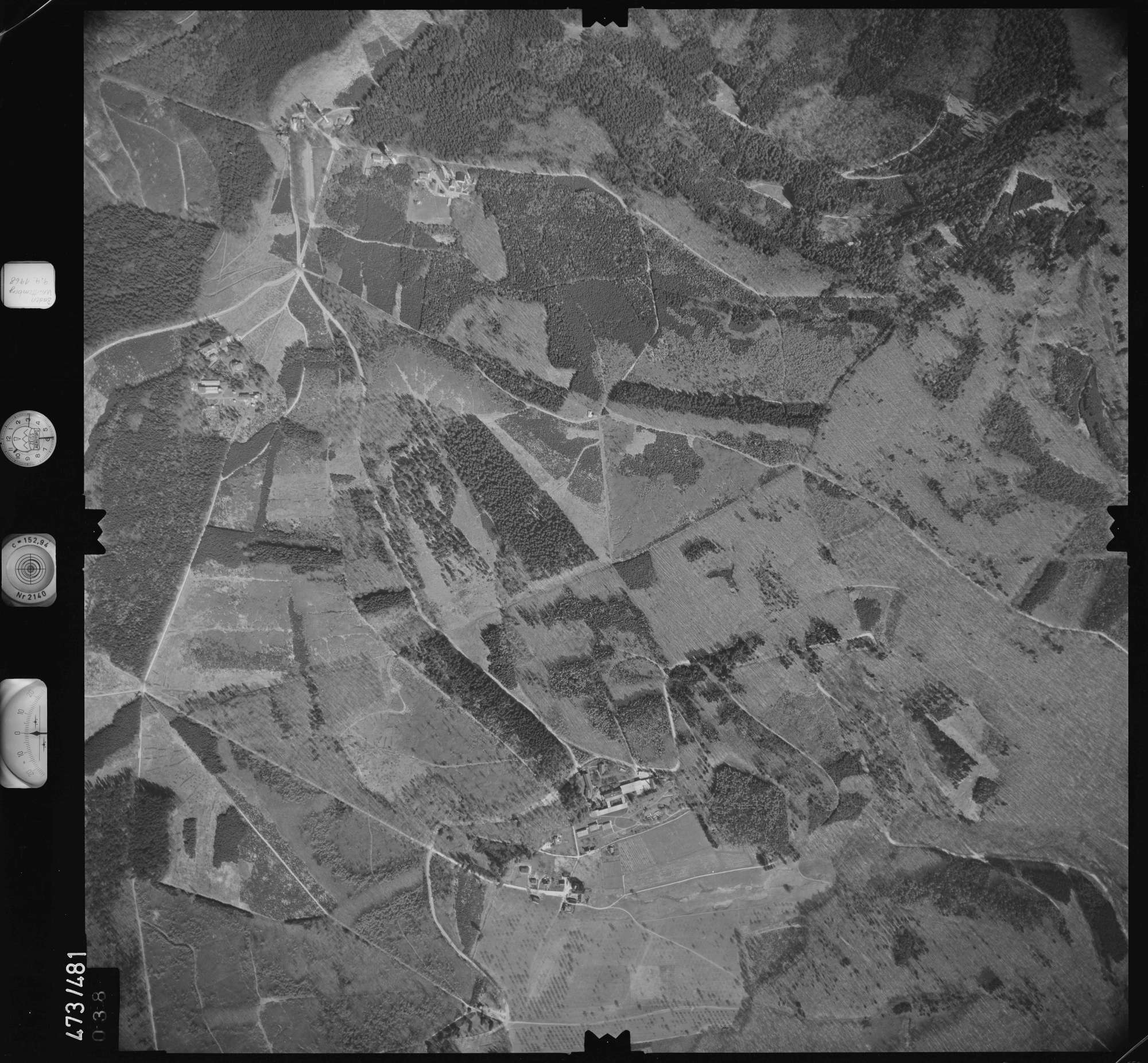 Luftbild: Film 100 Bildnr. 38, Bild 1