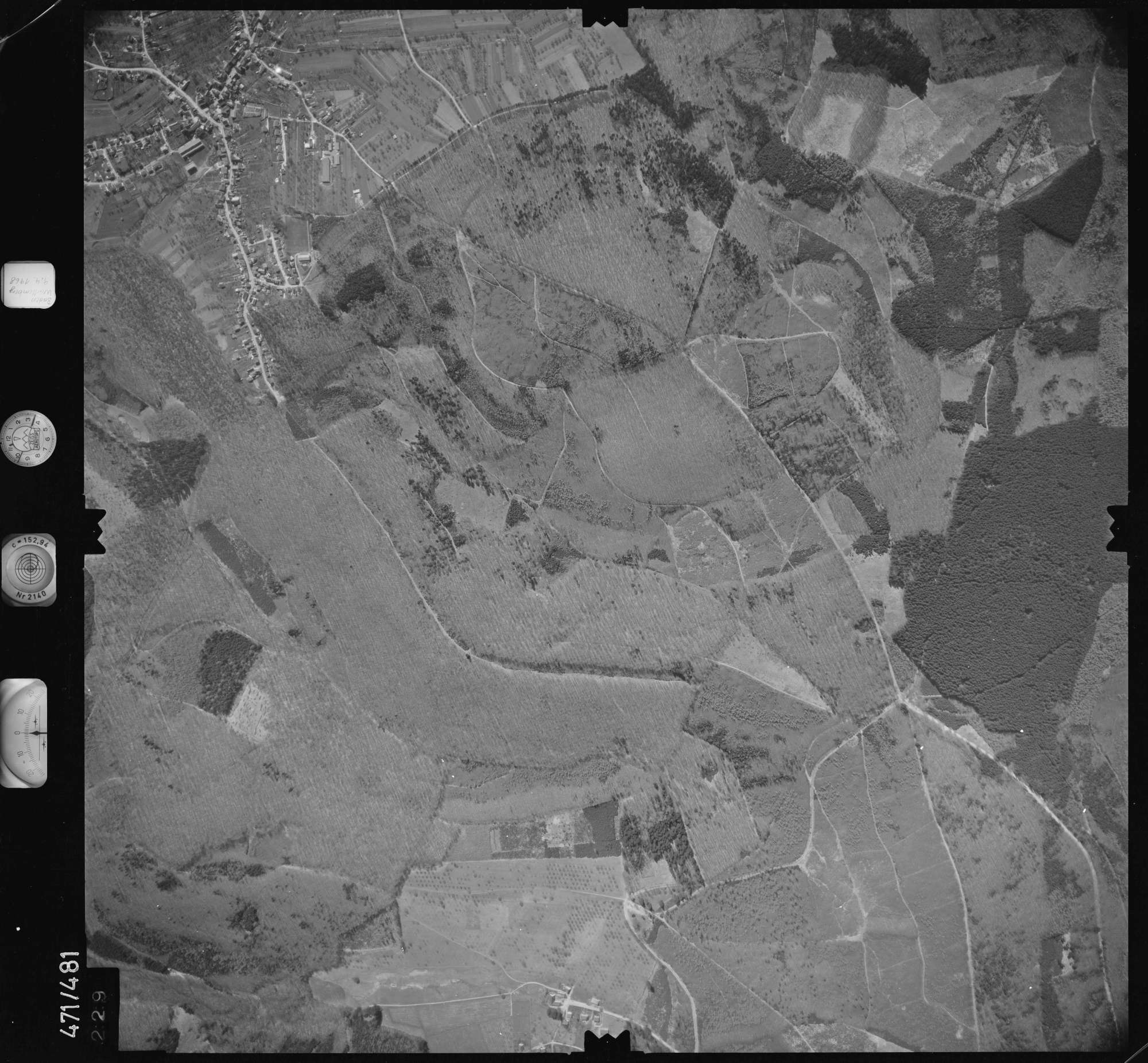 Luftbild: Film 100 Bildnr. 229, Bild 1