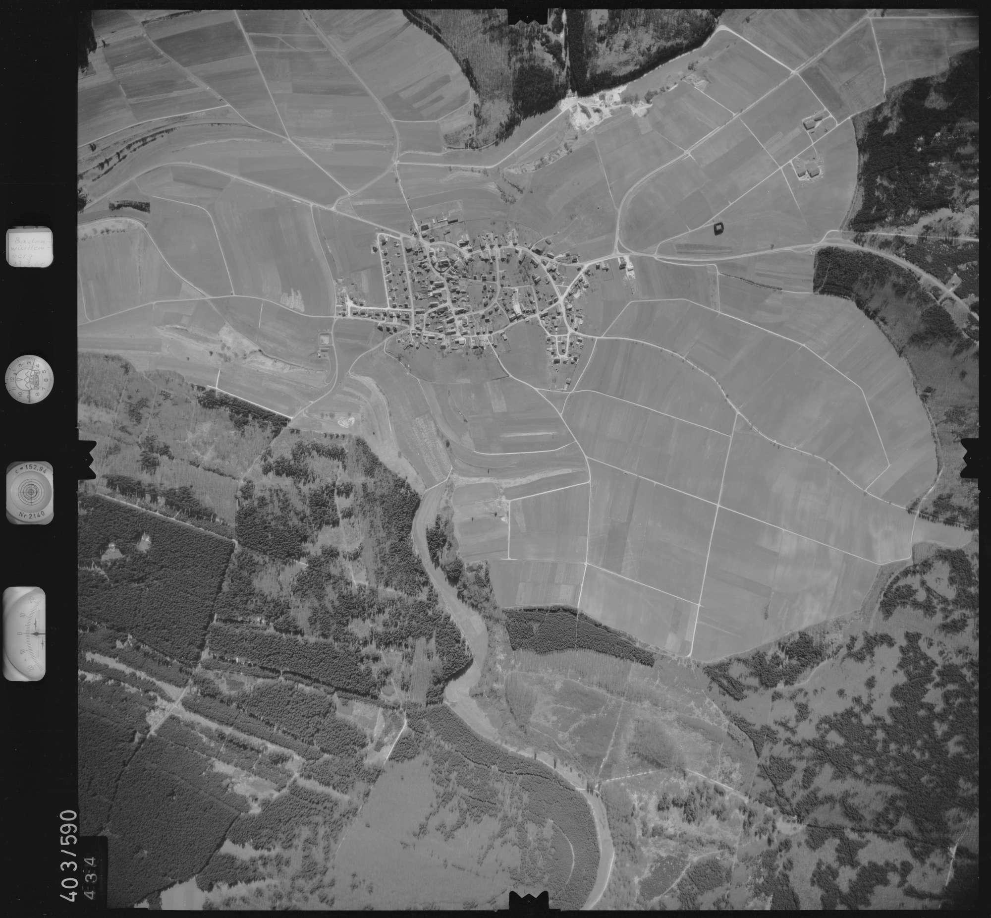 Luftbild: Film 10 Bildnr. 434, Bild 1